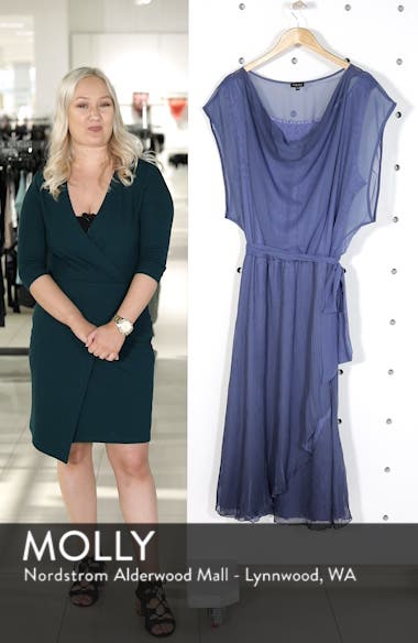 Charmeuse & Chiffon Blouson Dress, sales video thumbnail