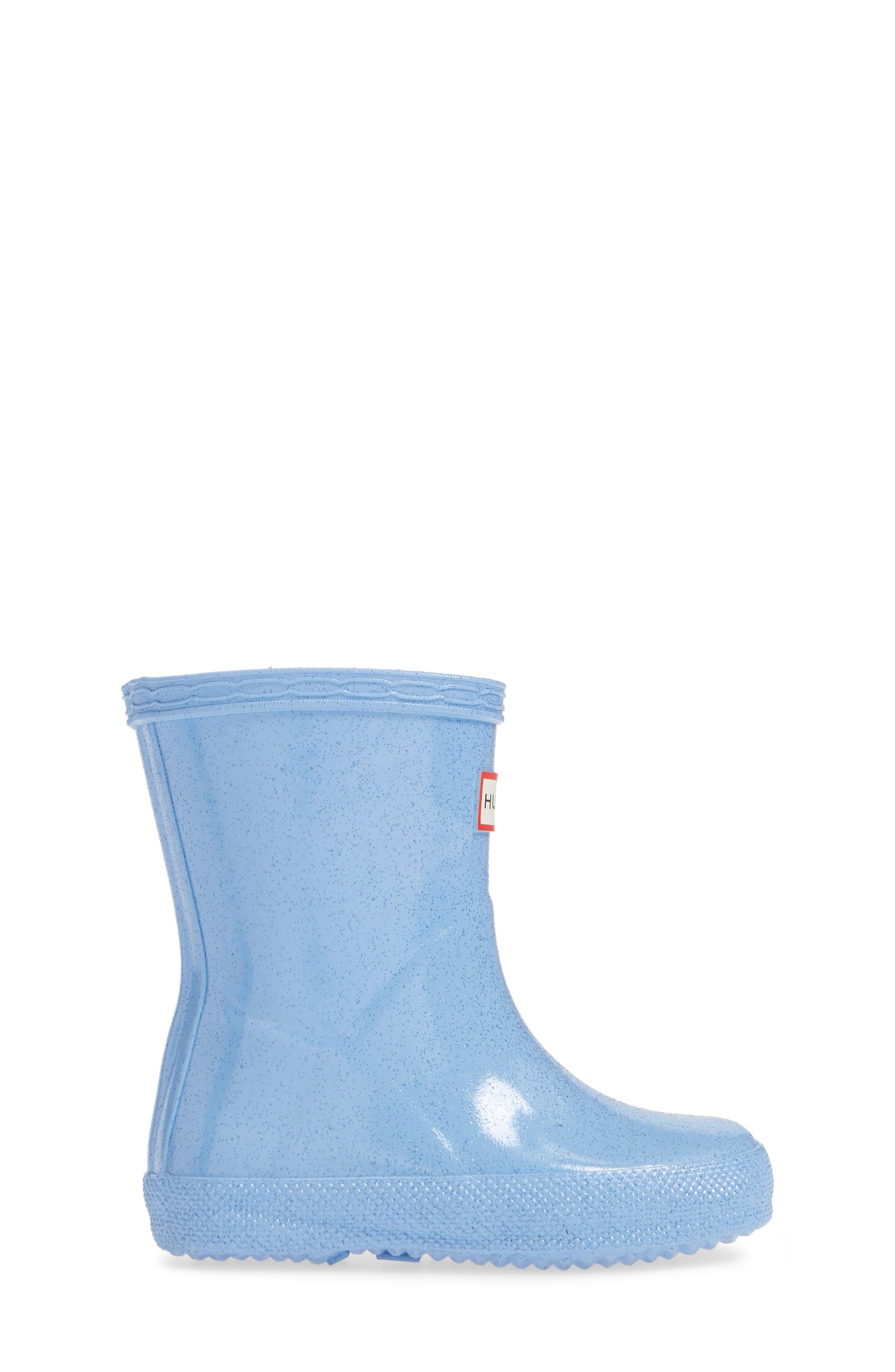 Kids First Classic Starcloud Glitter Rain Boot,                             Alternate thumbnail 3, color,                             VIVID BLUE