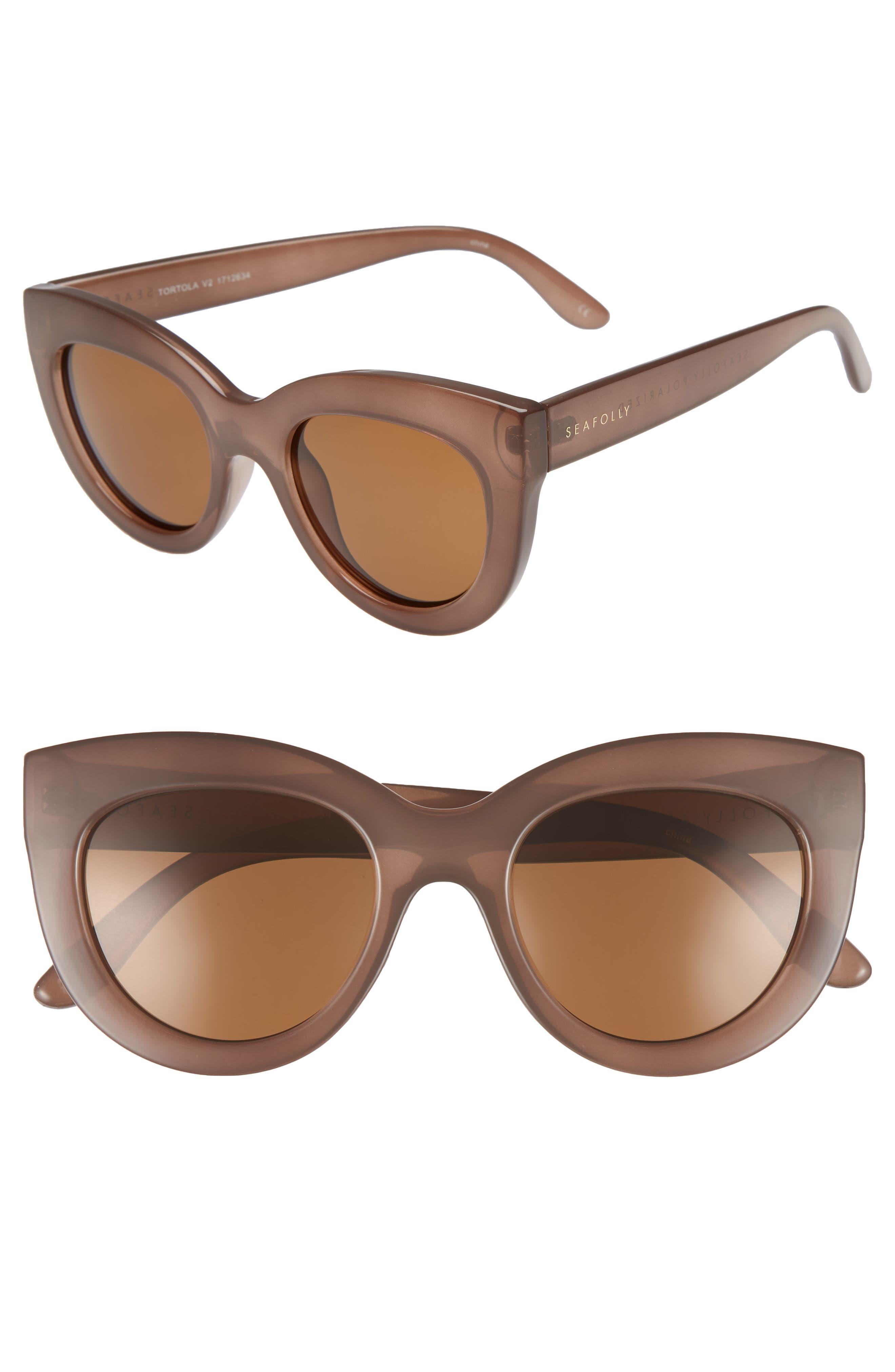 Tortola V2 51mm Polarized Cat Eye Sunglasses,                             Main thumbnail 1, color,                             200