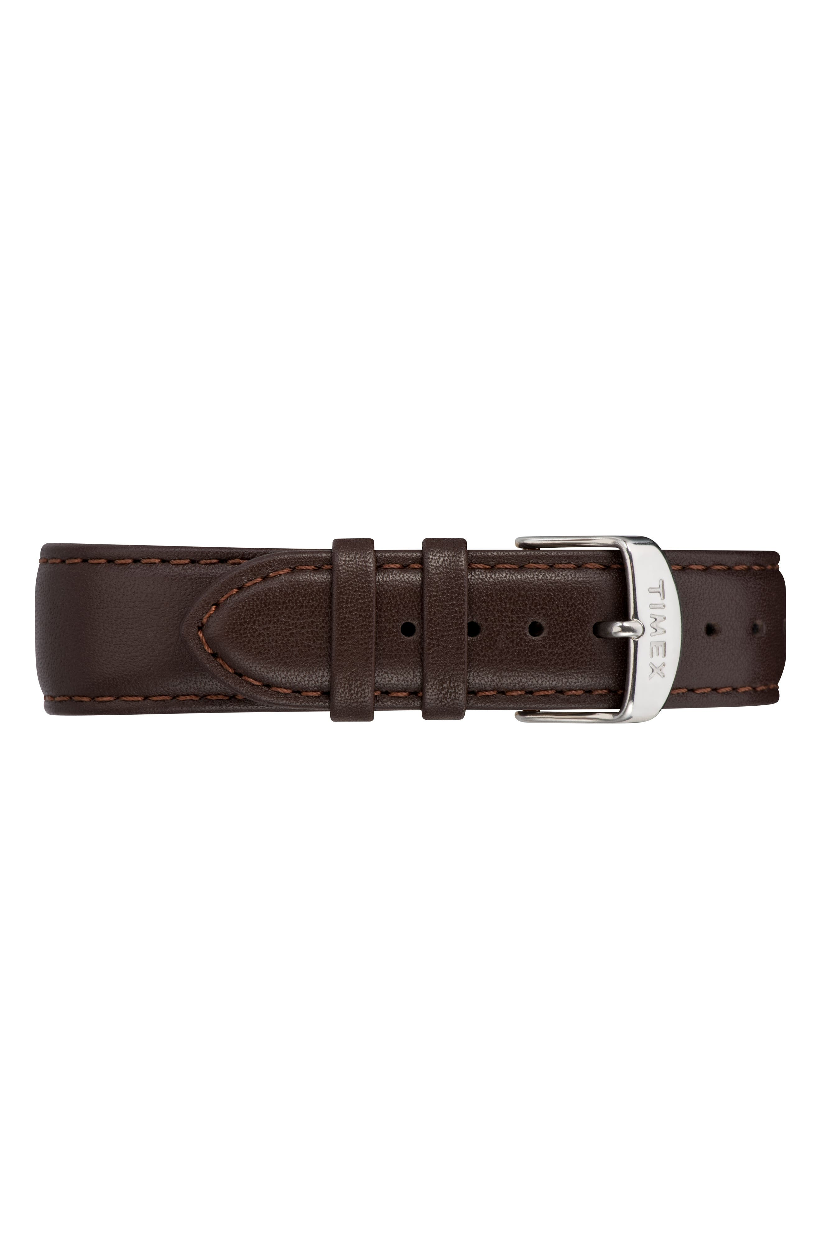 Fairfield Leather Strap Watch, 41mm,                             Alternate thumbnail 3, color,                             BROWN/ BLACK/ ROSE GOLD
