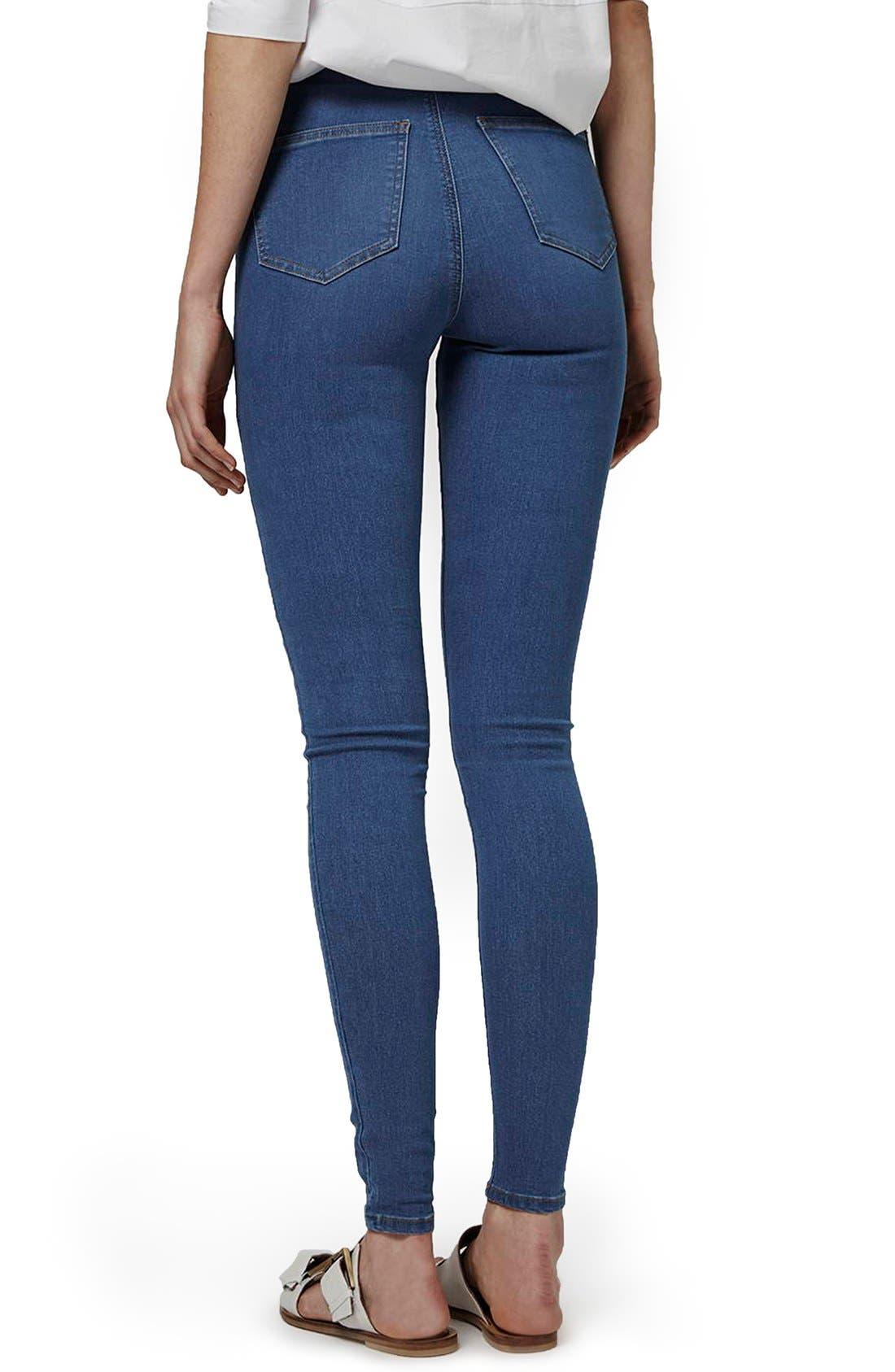 'Joni' High Waist Skinny Jeans,                             Alternate thumbnail 4, color,                             400