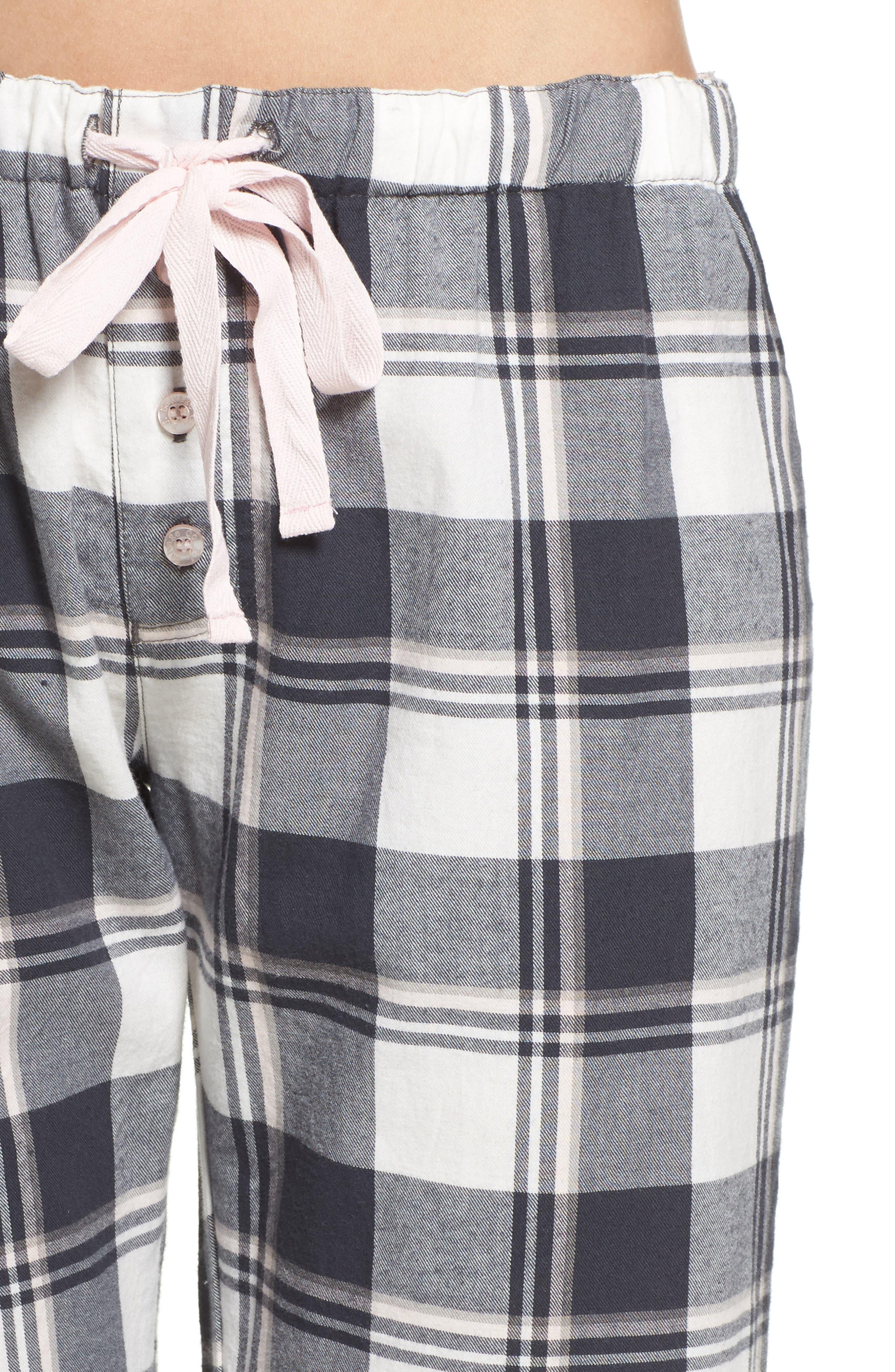 Plaid Pajama Pants,                             Alternate thumbnail 4, color,                             900
