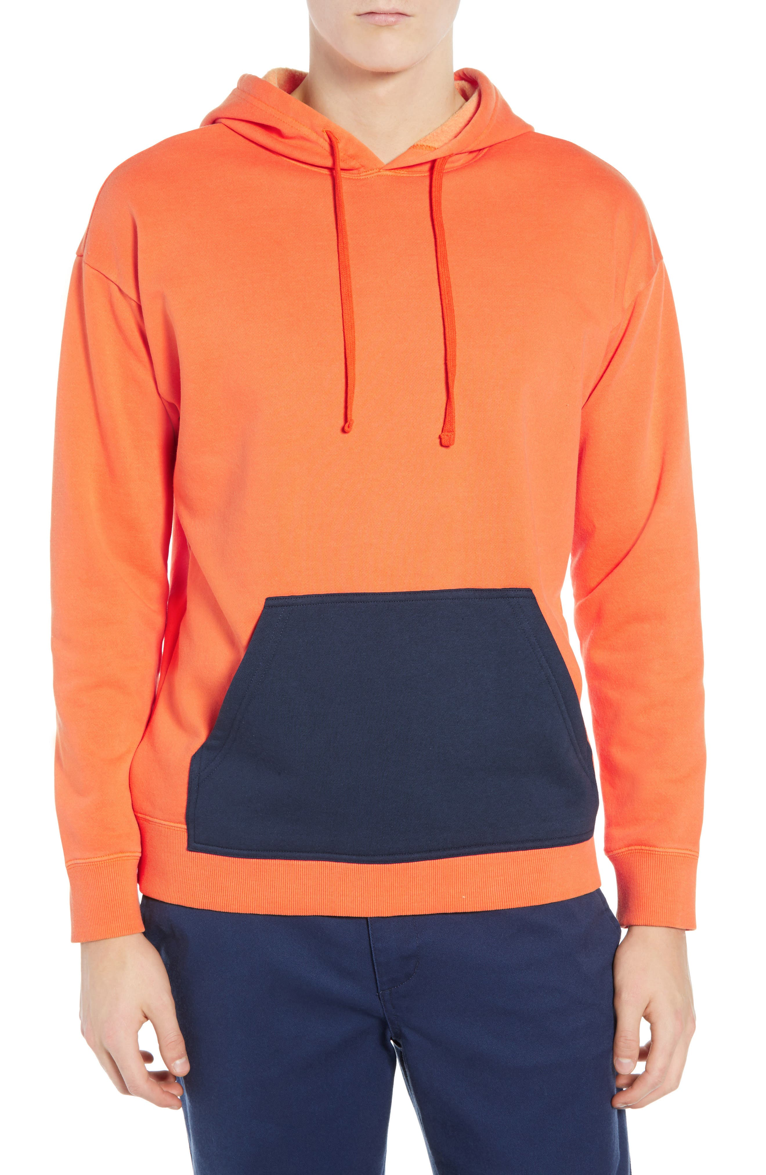 Rvca Adrian Colorblock Hoodie, Orange
