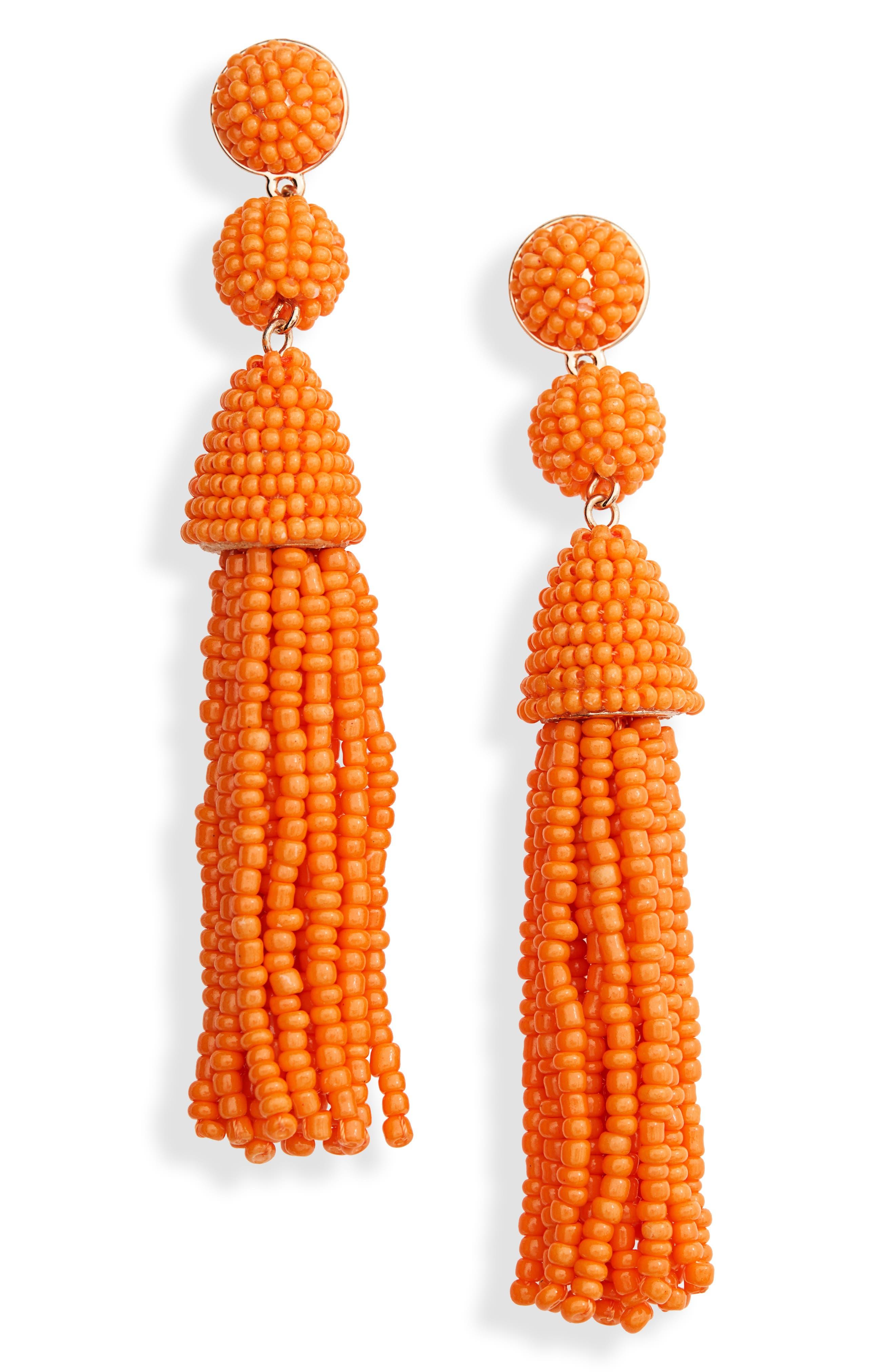 60s -70s Jewelry – Necklaces, Earrings, Rings, Bracelets Womens Baublebar Granita Beaded Tassel Earrings $22.80 AT vintagedancer.com