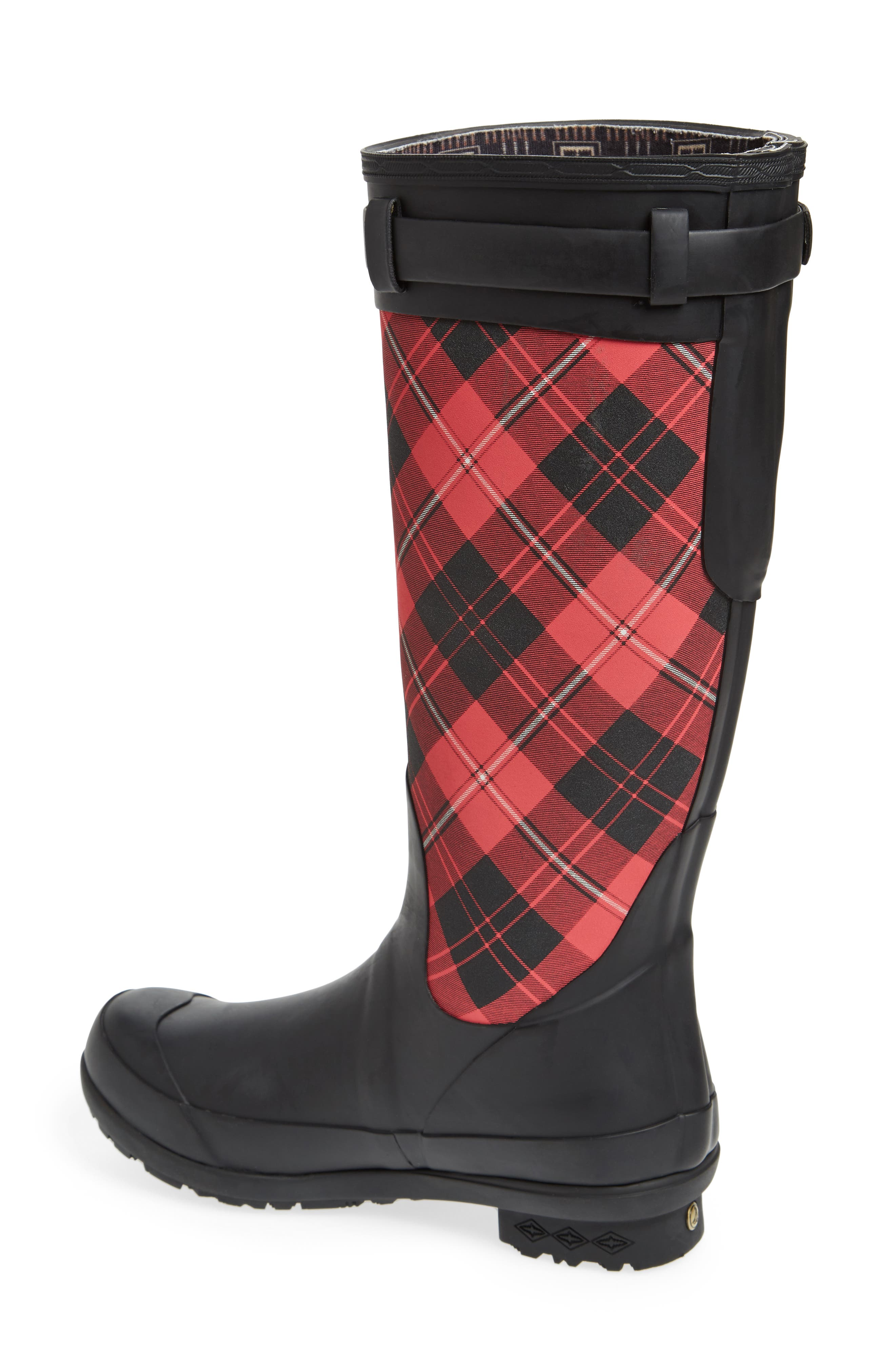 Heritage Cunningham Tartan Tall Boot,                             Alternate thumbnail 2, color,                             SCARLET