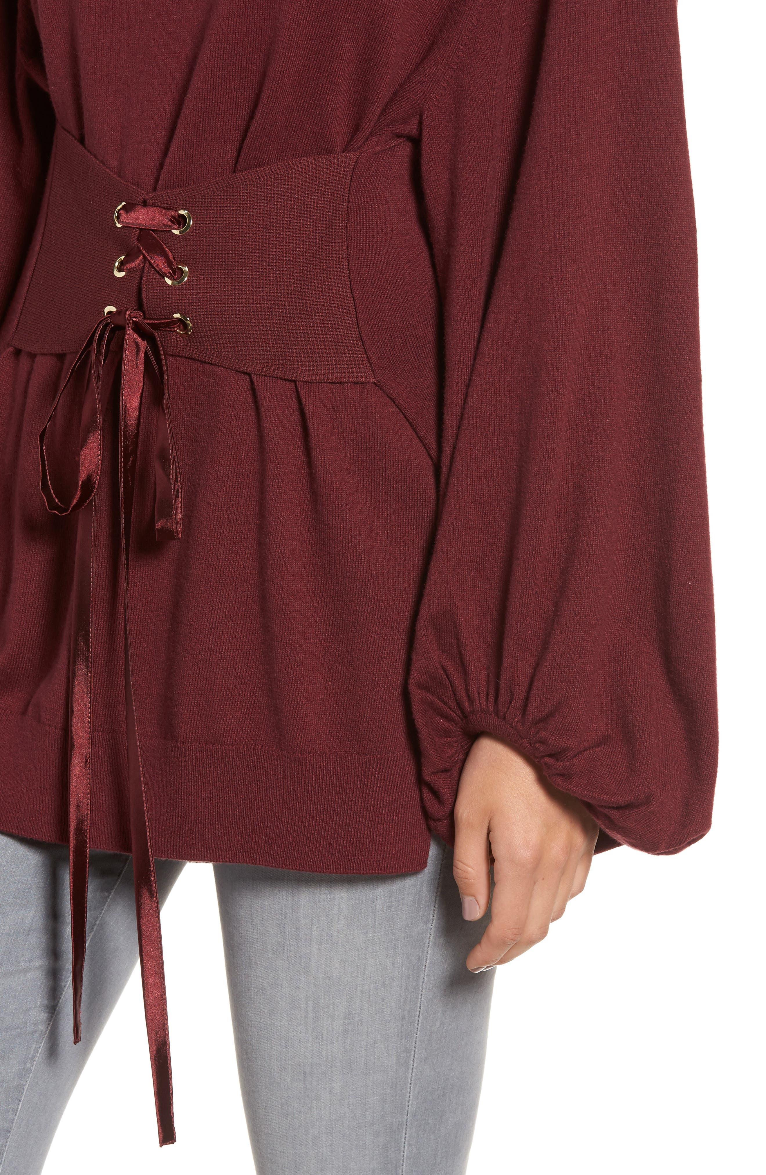 Corset Tunic Sweater,                             Alternate thumbnail 8, color,