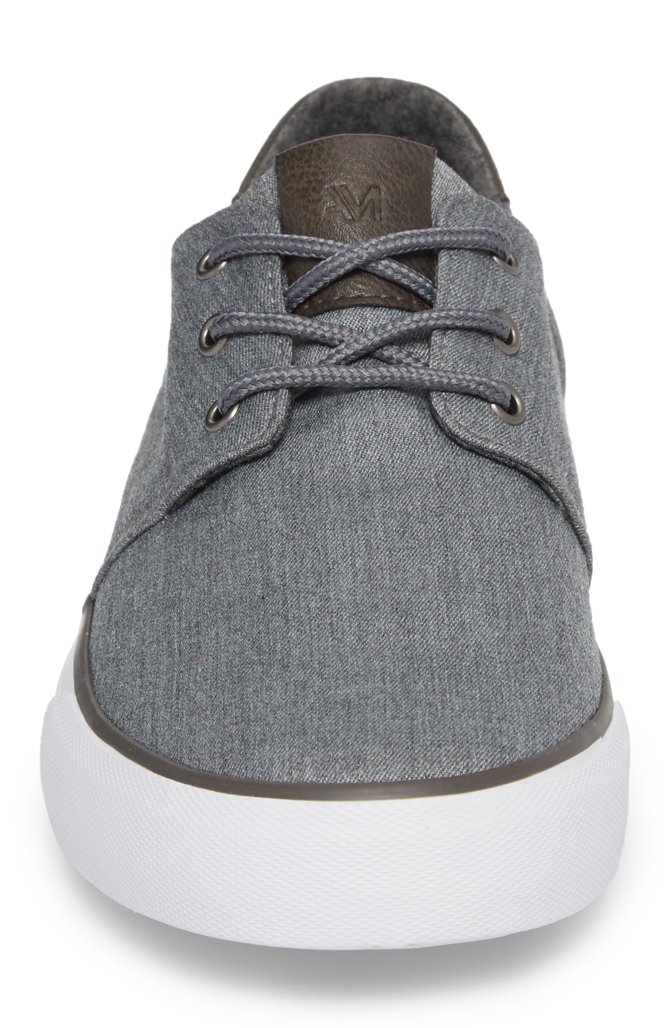 Briggs Low Top Sneaker,                             Alternate thumbnail 4, color,                             CHARCOAL/ DARK GREY/ WHITE