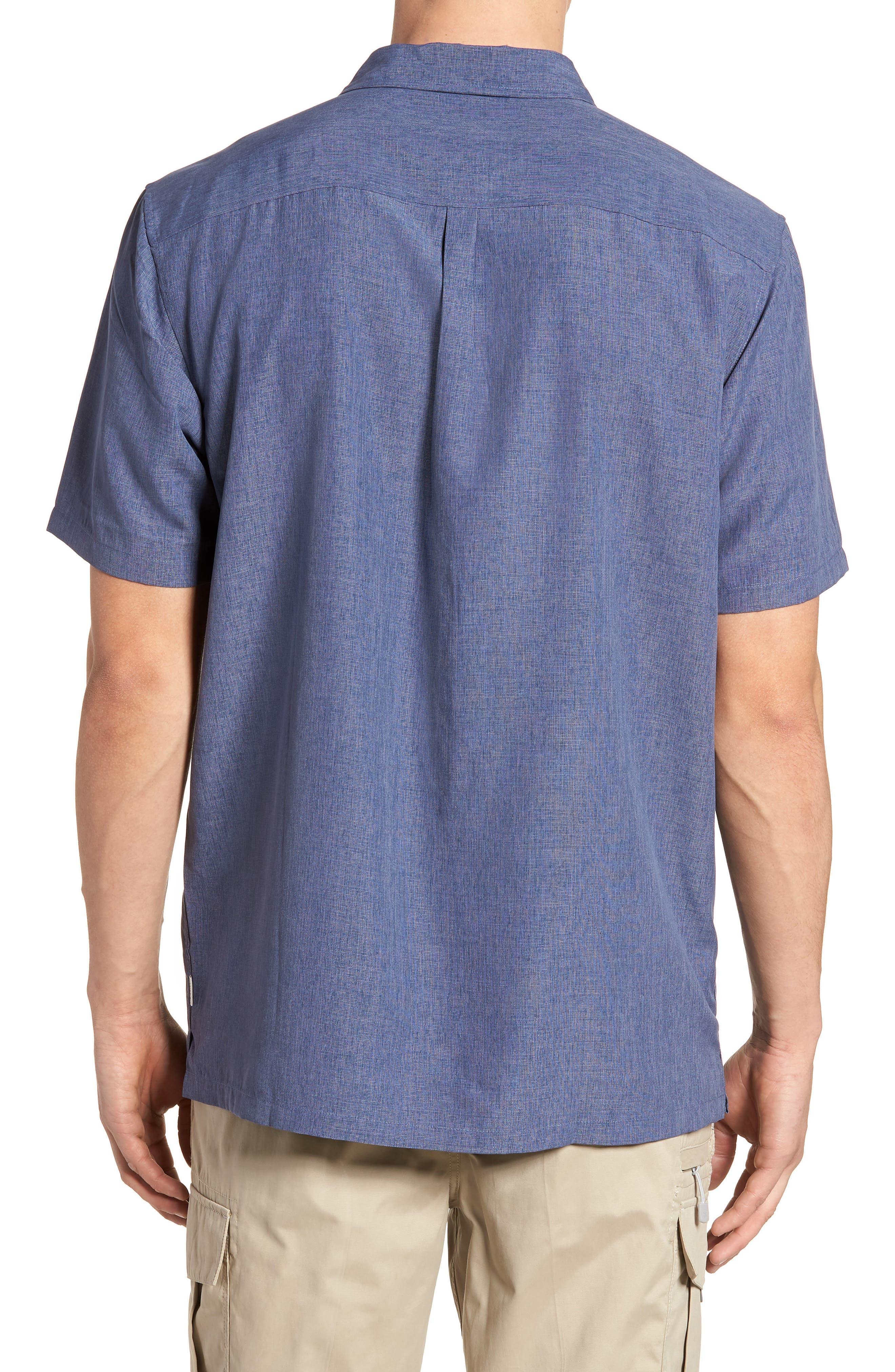 Liberty Regular Fit Short Sleeve Sport Shirt,                             Alternate thumbnail 2, color,                             NAVY