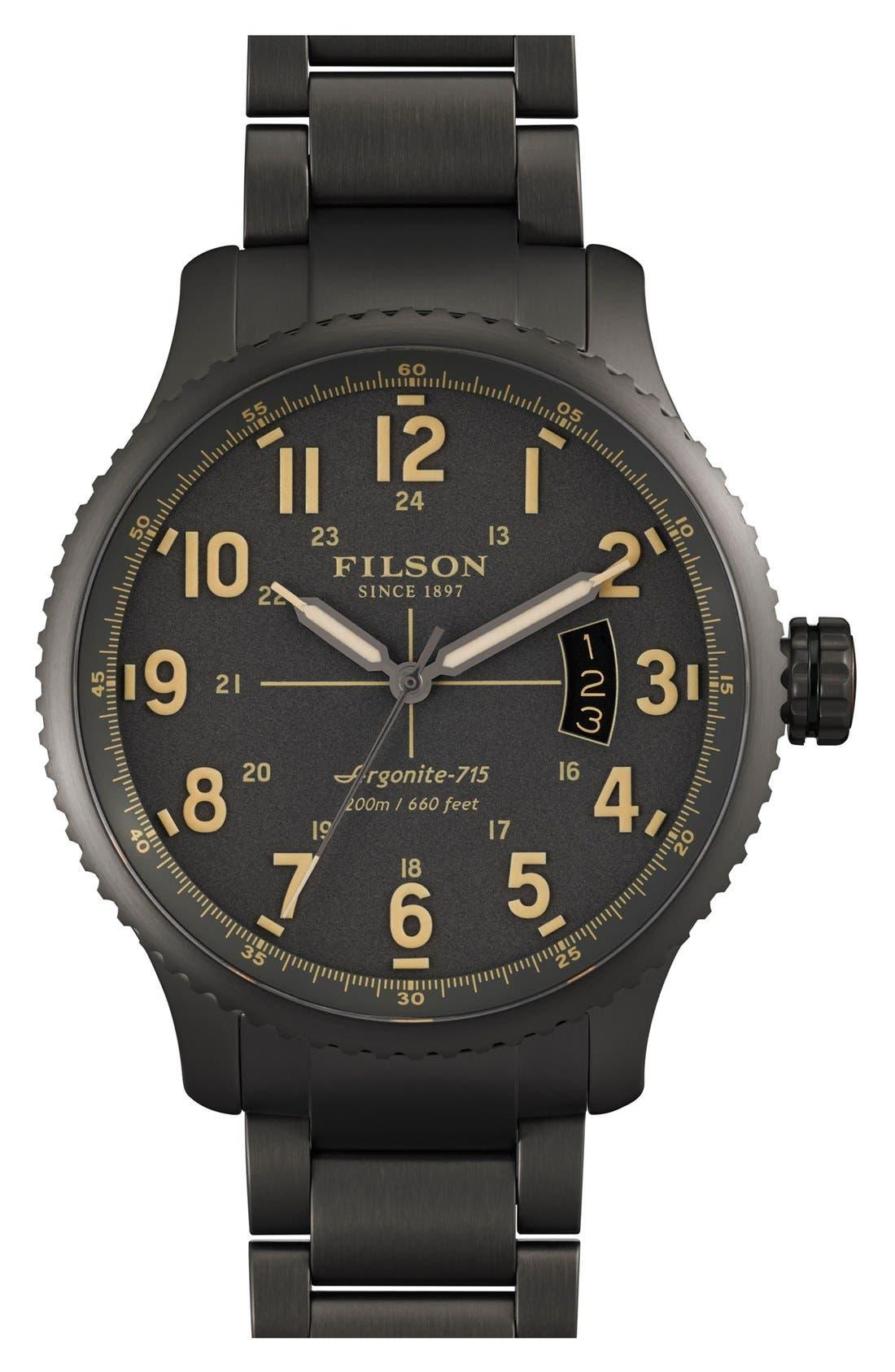 'The Mackinaw Field' Bracelet Watch, 43mm,                             Main thumbnail 1, color,                             020