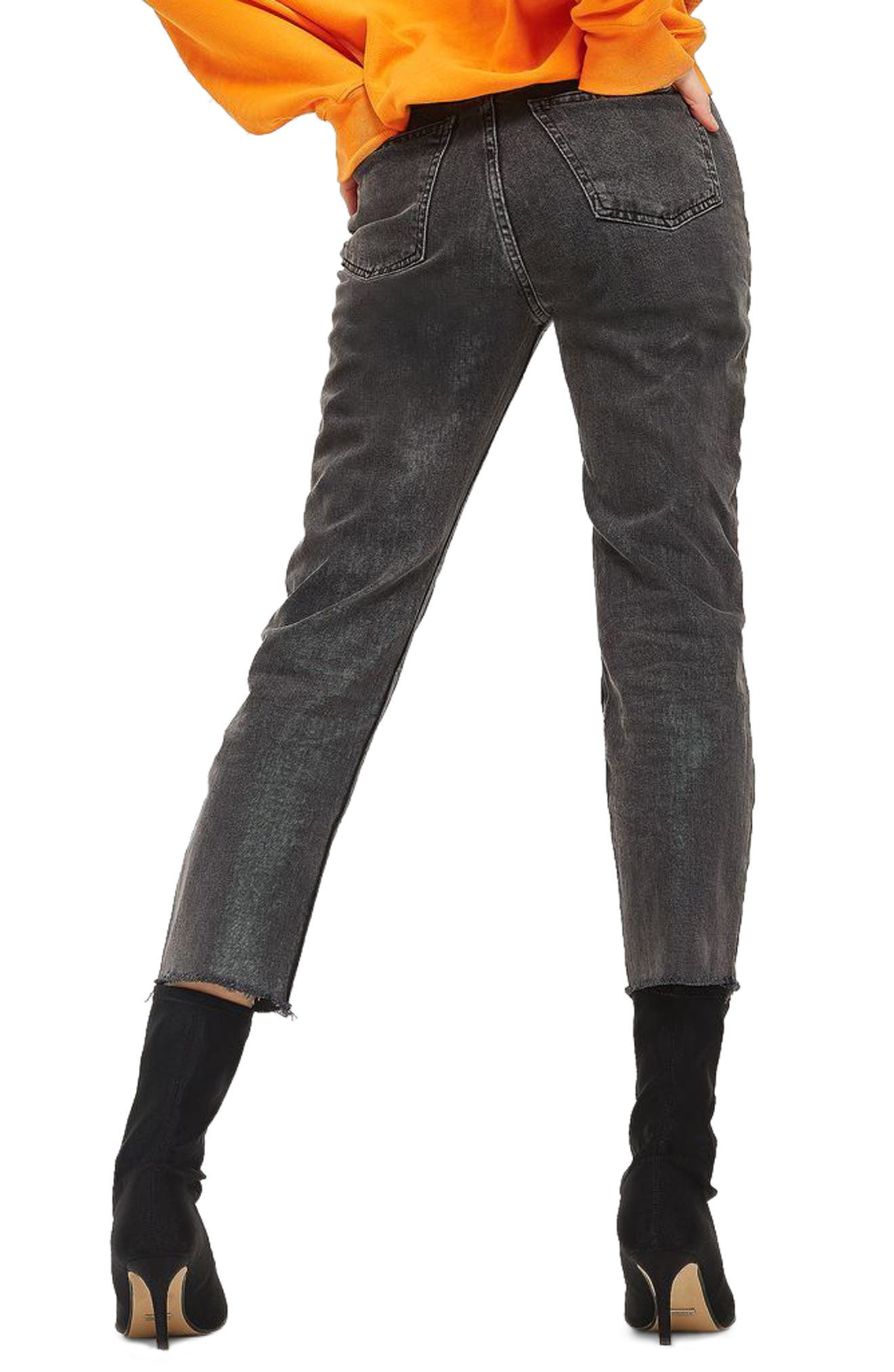 Raw Hem Straight Leg Jeans,                             Alternate thumbnail 2, color,                             021