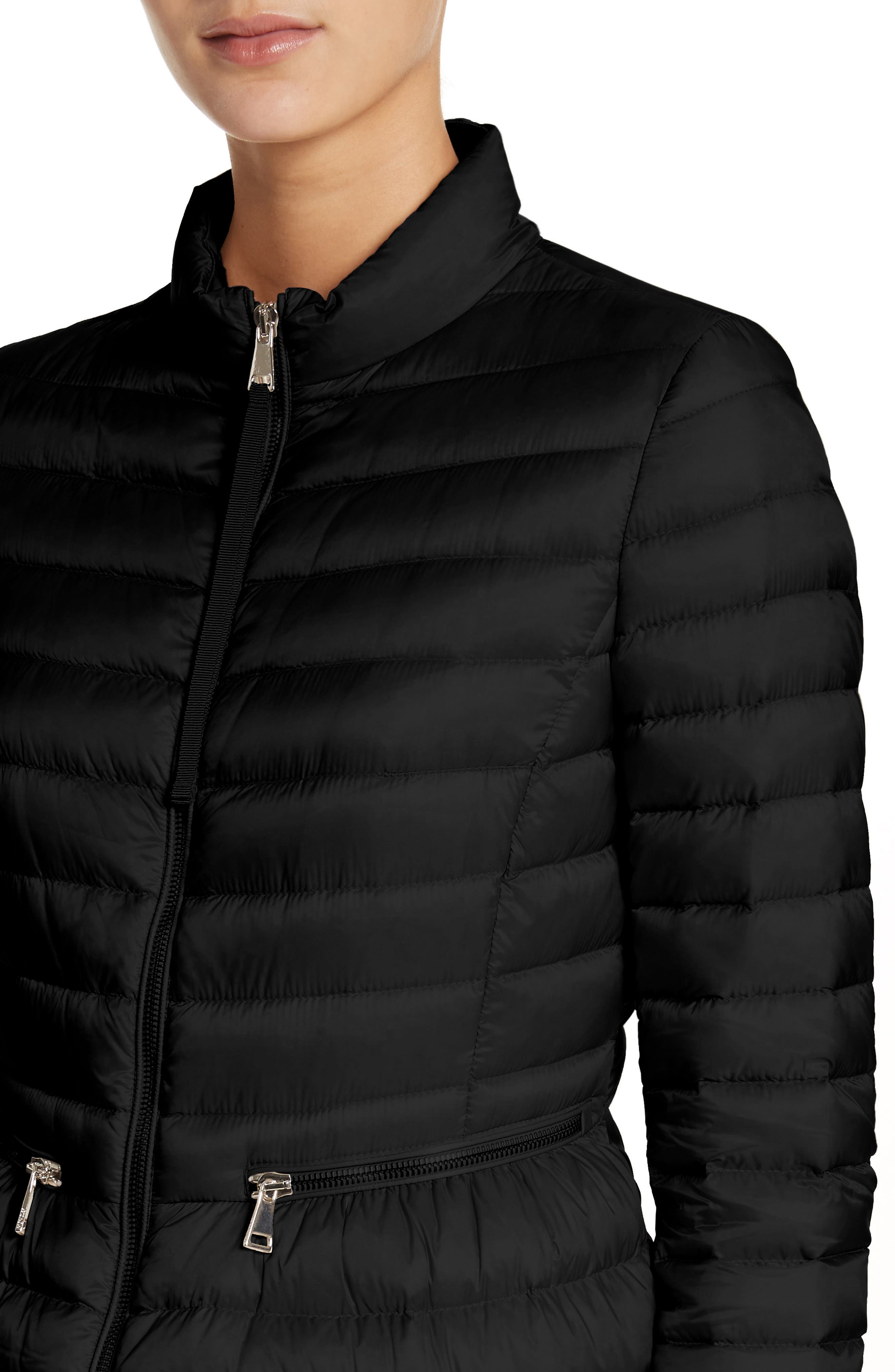 MONCLER,                             Agate Quilted Puffer Jacket,                             Alternate thumbnail 4, color,                             001