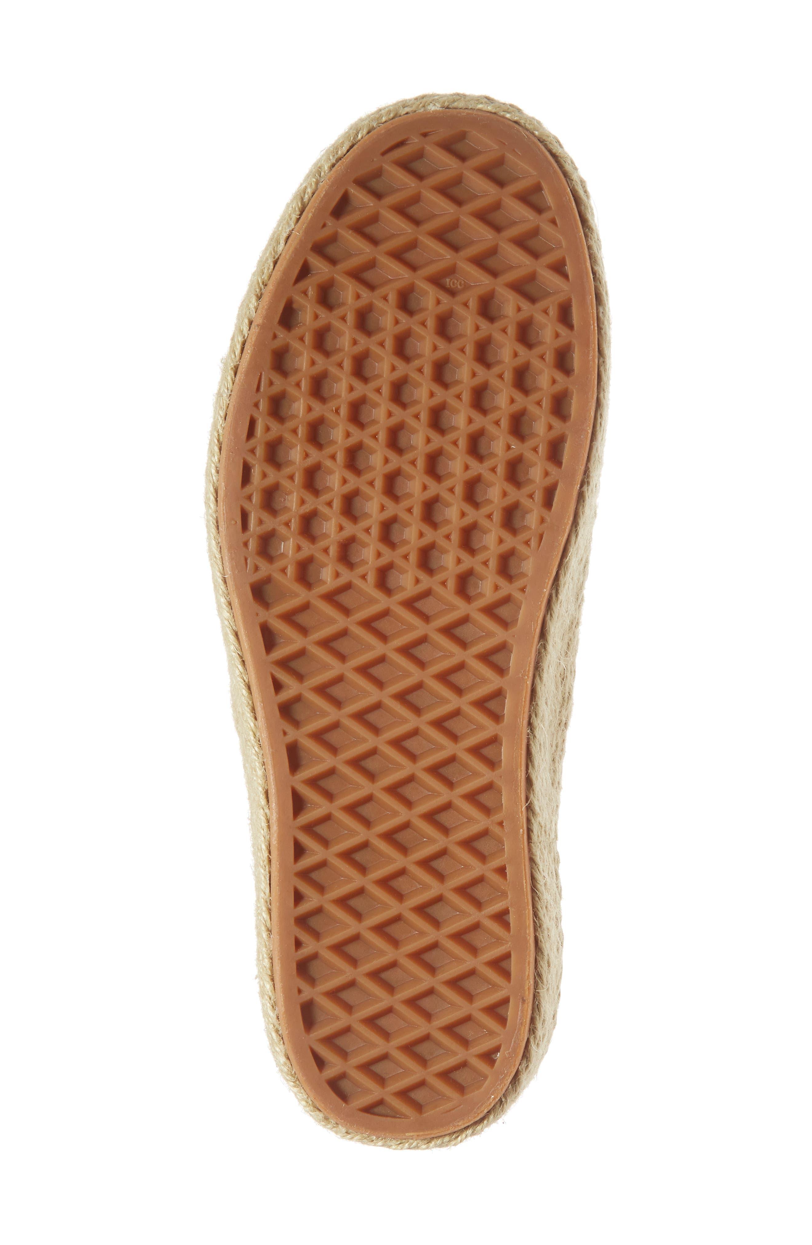 Authentic Espadrille Platform Sneaker,                             Alternate thumbnail 6, color,                             250