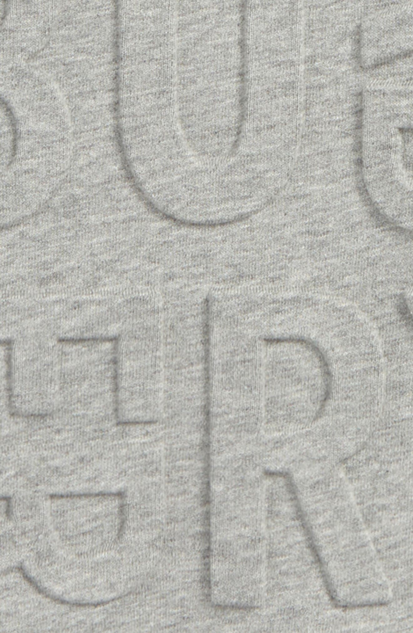 Hank Embossed Sweatshirt,                             Alternate thumbnail 2, color,                             GREY MELANGE