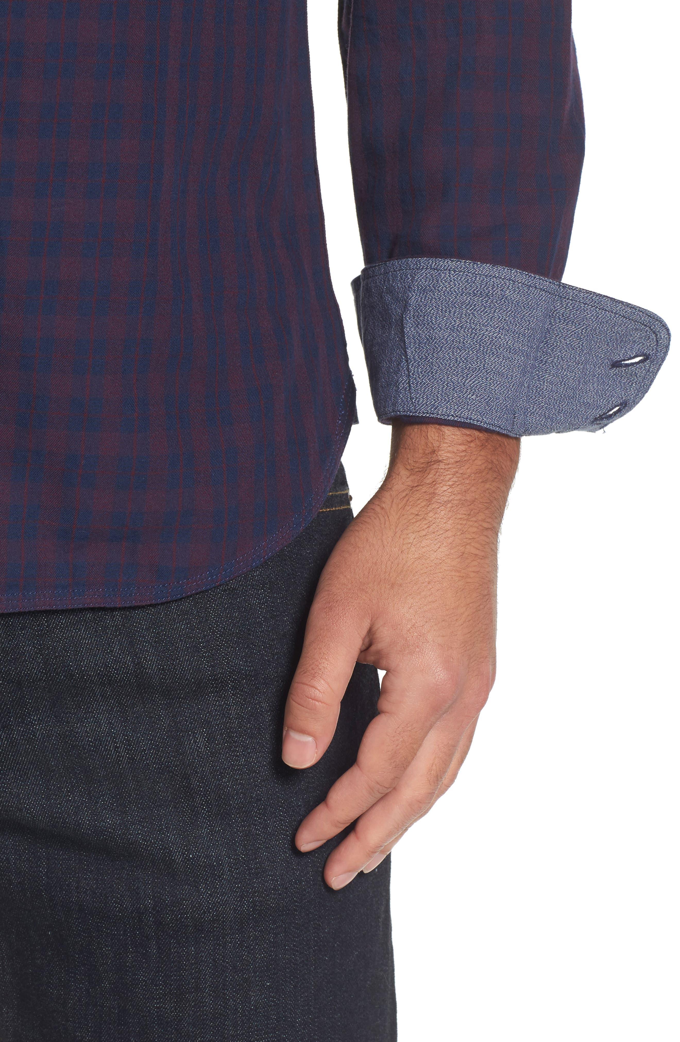 Slim Washed Fit Sport Shirt,                             Alternate thumbnail 4, color,