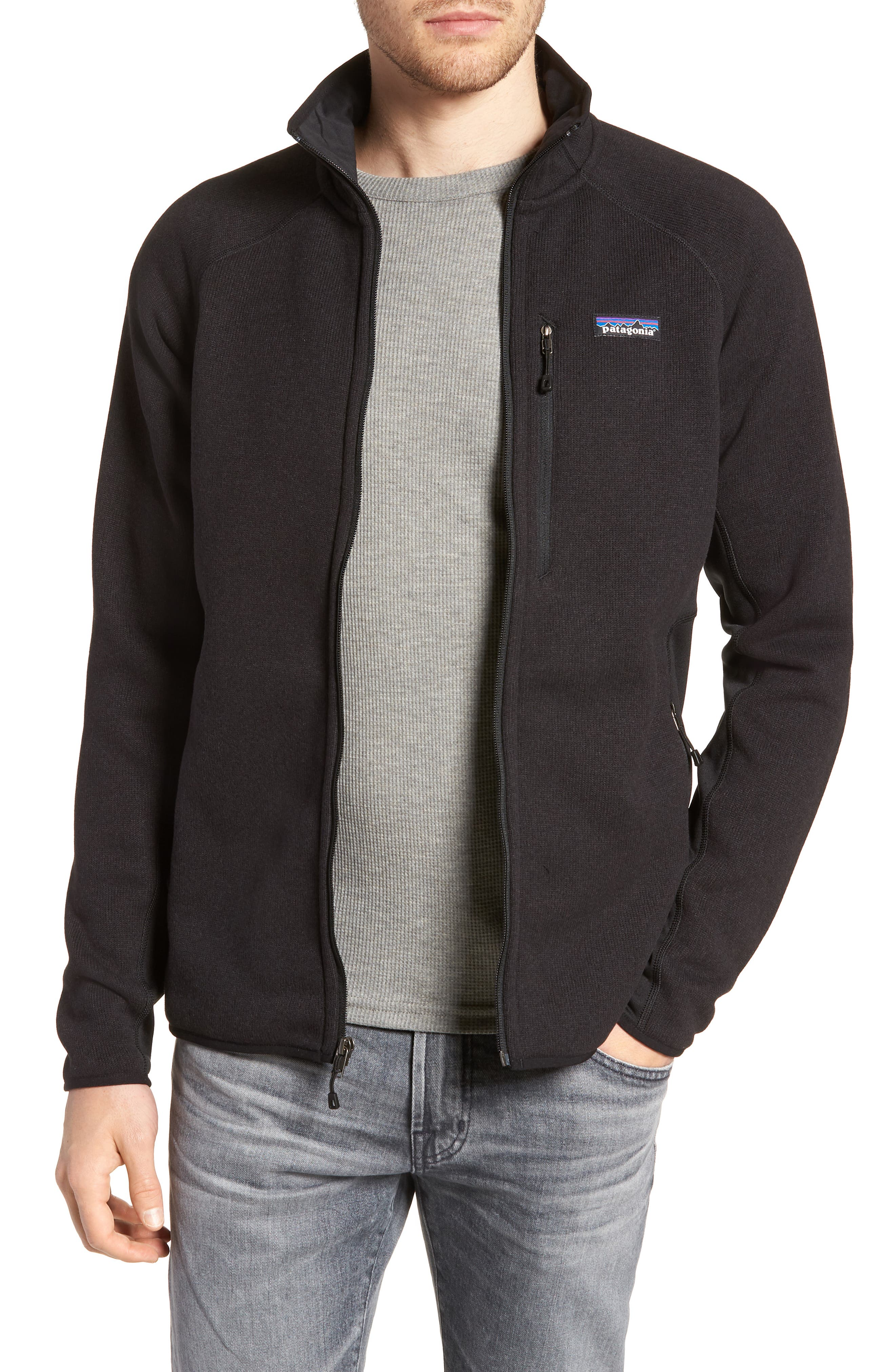 Better Sweater<sup>®</sup> Performance Slim Fit Zip Jacket,                         Main,                         color, BLK