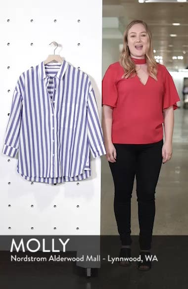 Stripe Oversize Shirt, sales video thumbnail