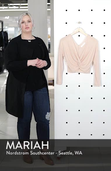 Twist Front Cropped Top, sales video thumbnail
