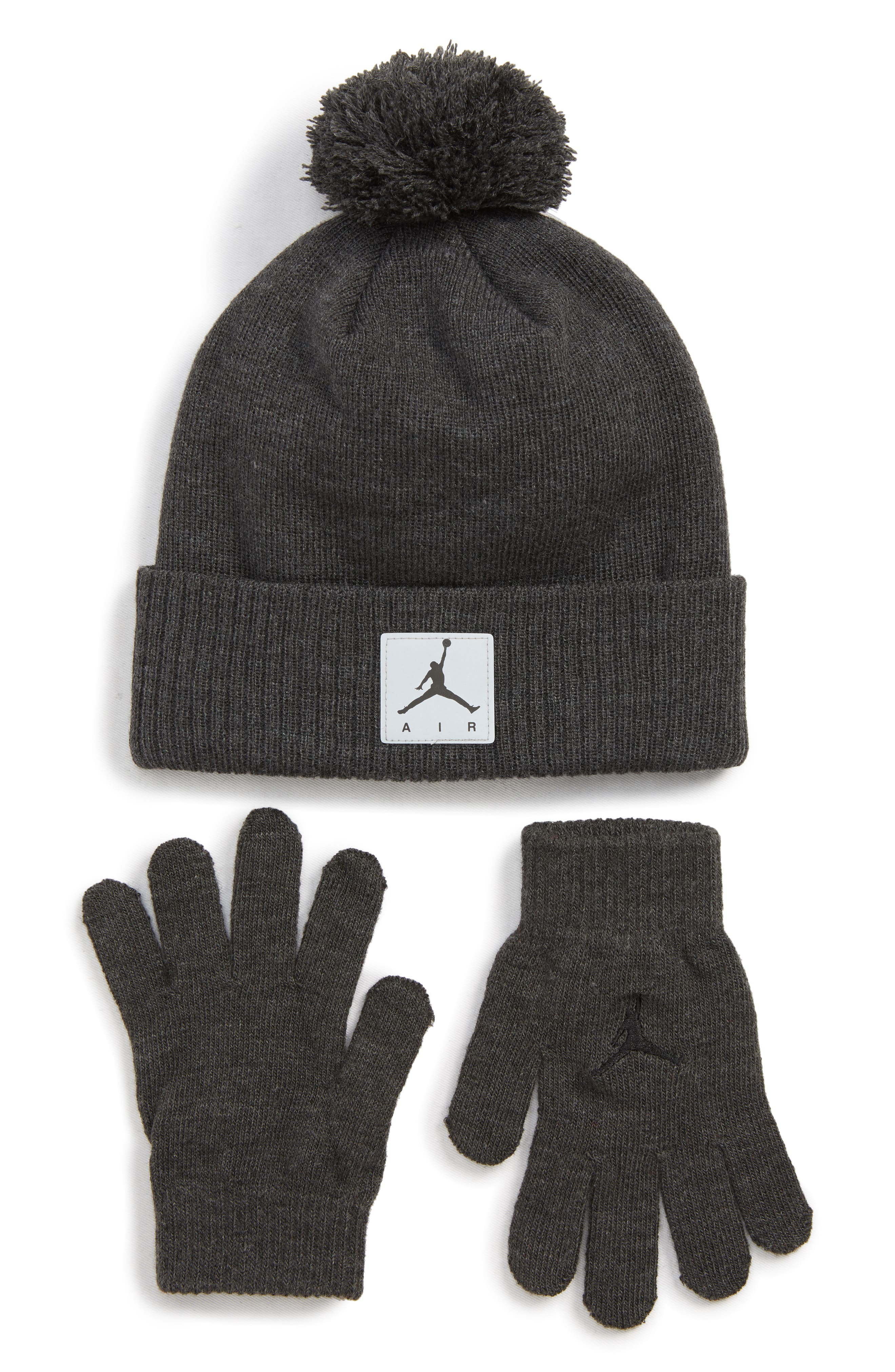 Boys Jordan Air Heather Beanie  Gloves Set