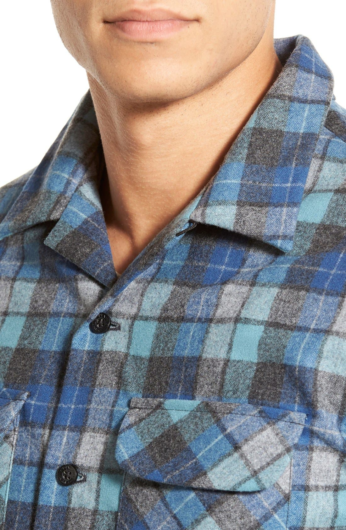 'Board' Regular Fit Flannel Shirt,                             Alternate thumbnail 6, color,