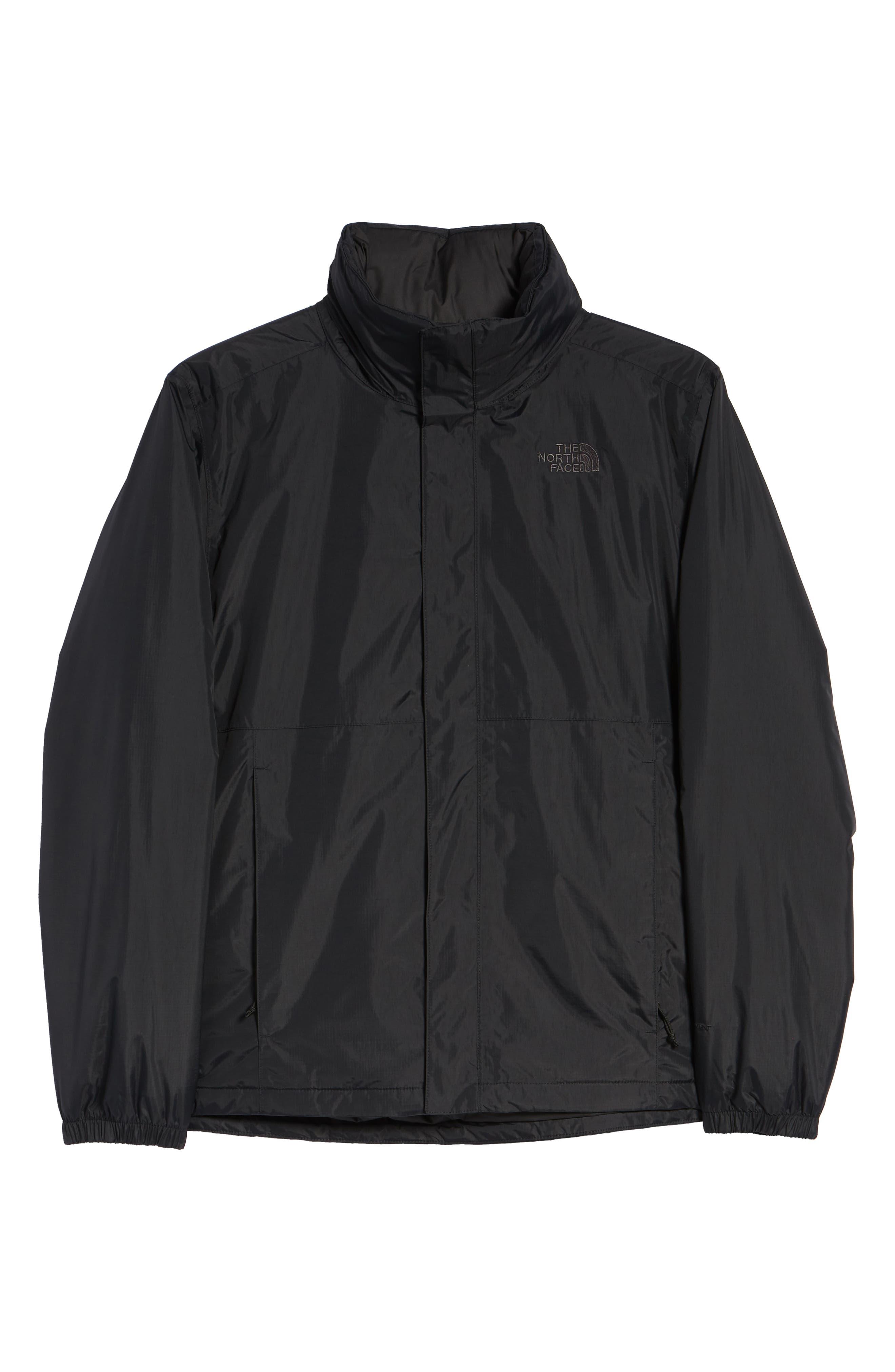 Resolve Waterproof Jacket,                             Alternate thumbnail 5, color,                             TNF BLACK