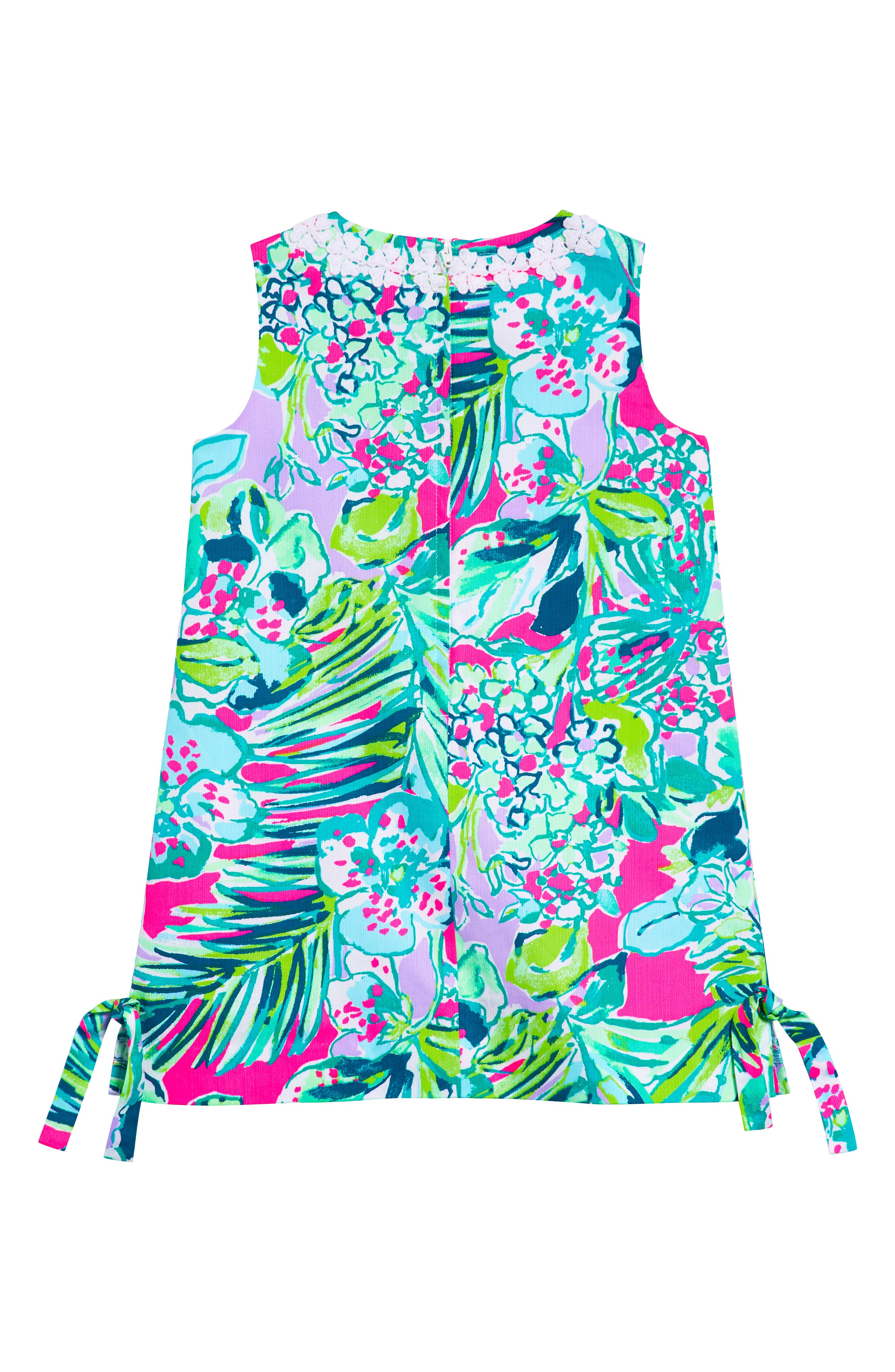 Little Lilly Classic Shift Dress,                             Alternate thumbnail 2, color,                             MULTI EARLY BLOOMER
