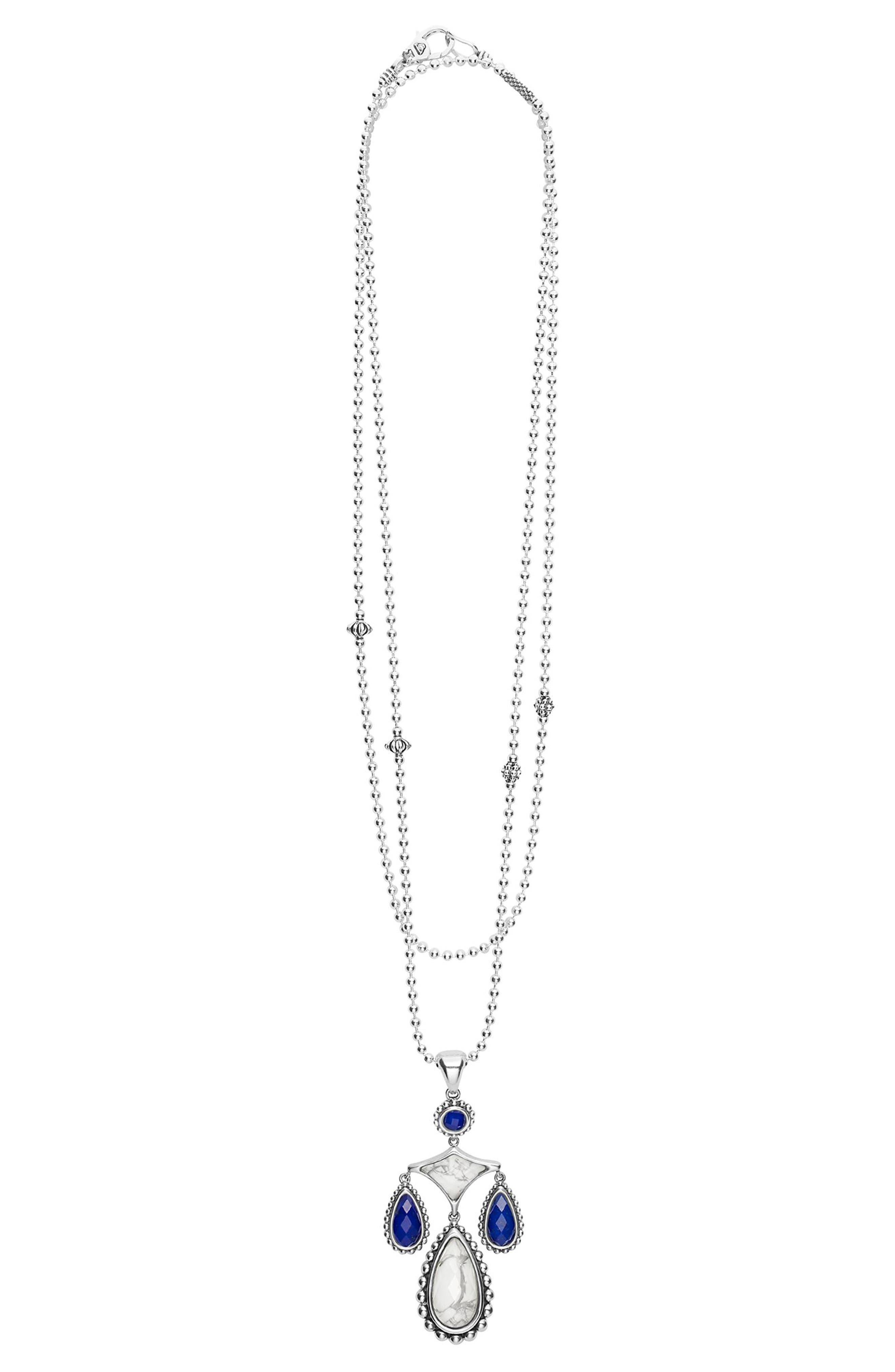 Maya Drop Pendant Necklace,                             Alternate thumbnail 3, color,                             900