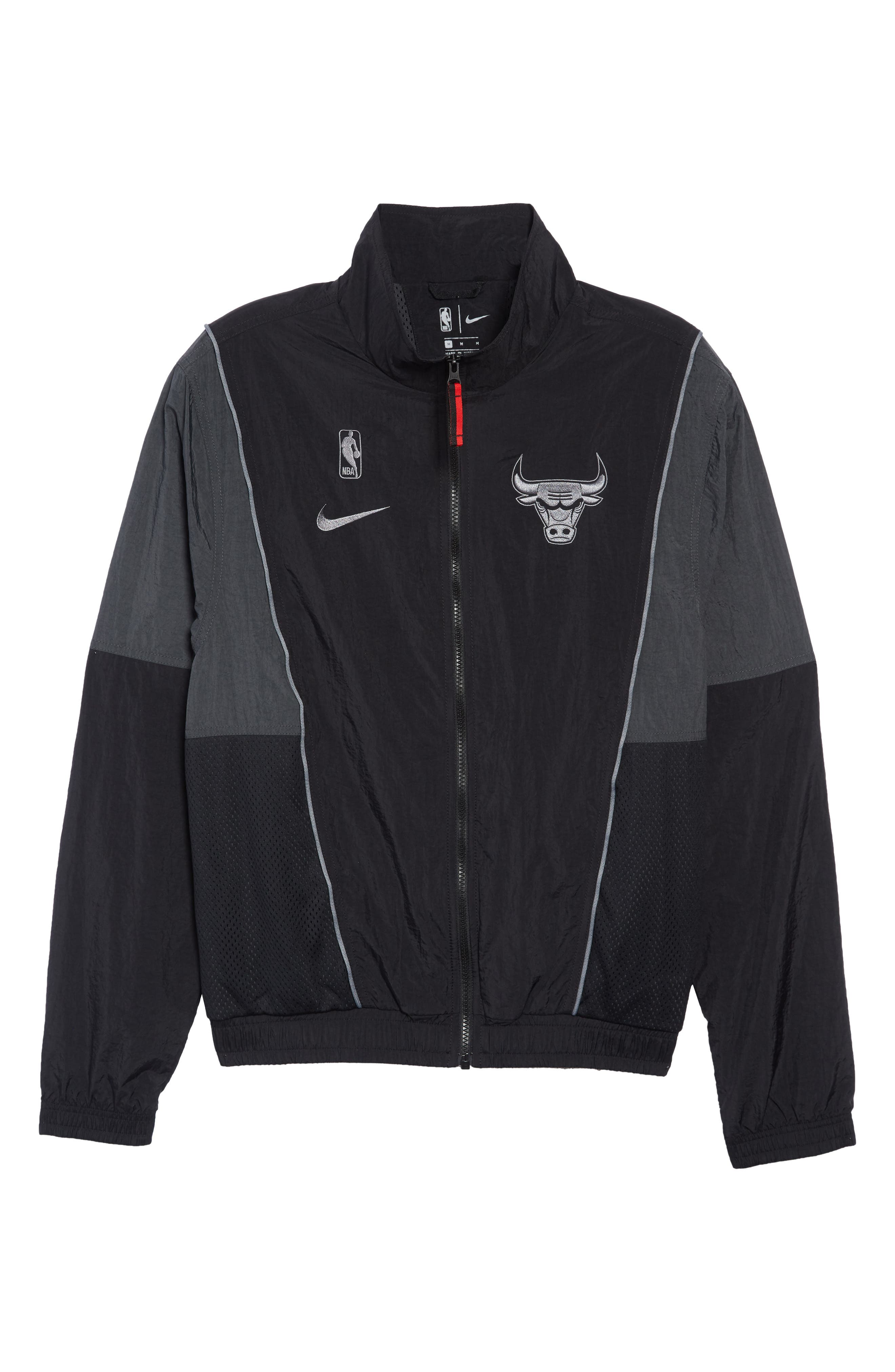 Chicago Bulls Track Jacket,                             Alternate thumbnail 6, color,                             BLACK/ ANTHRACITE/ COOL GREY