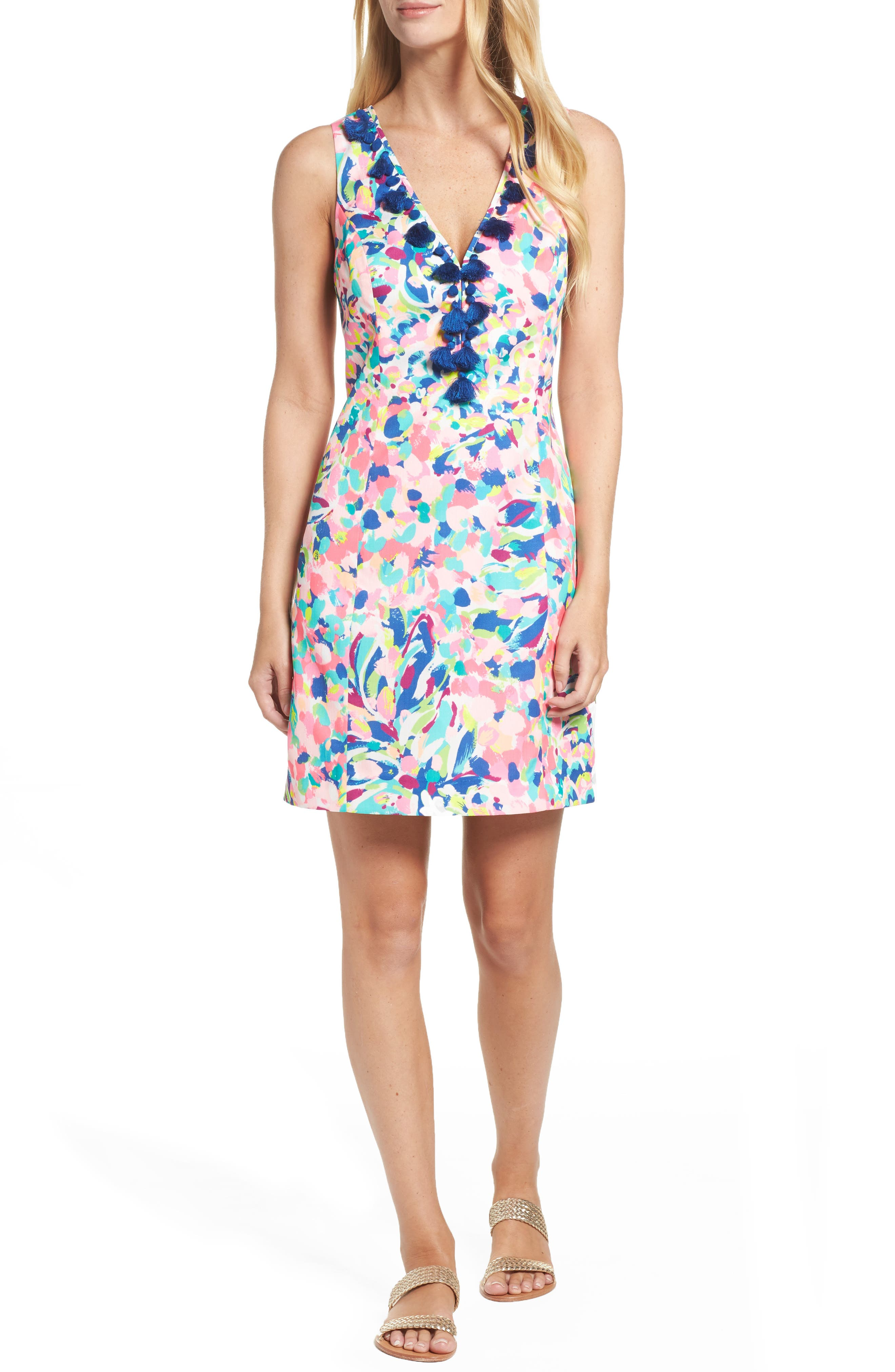 Cabrey Sheath Dress,                             Alternate thumbnail 5, color,                             698