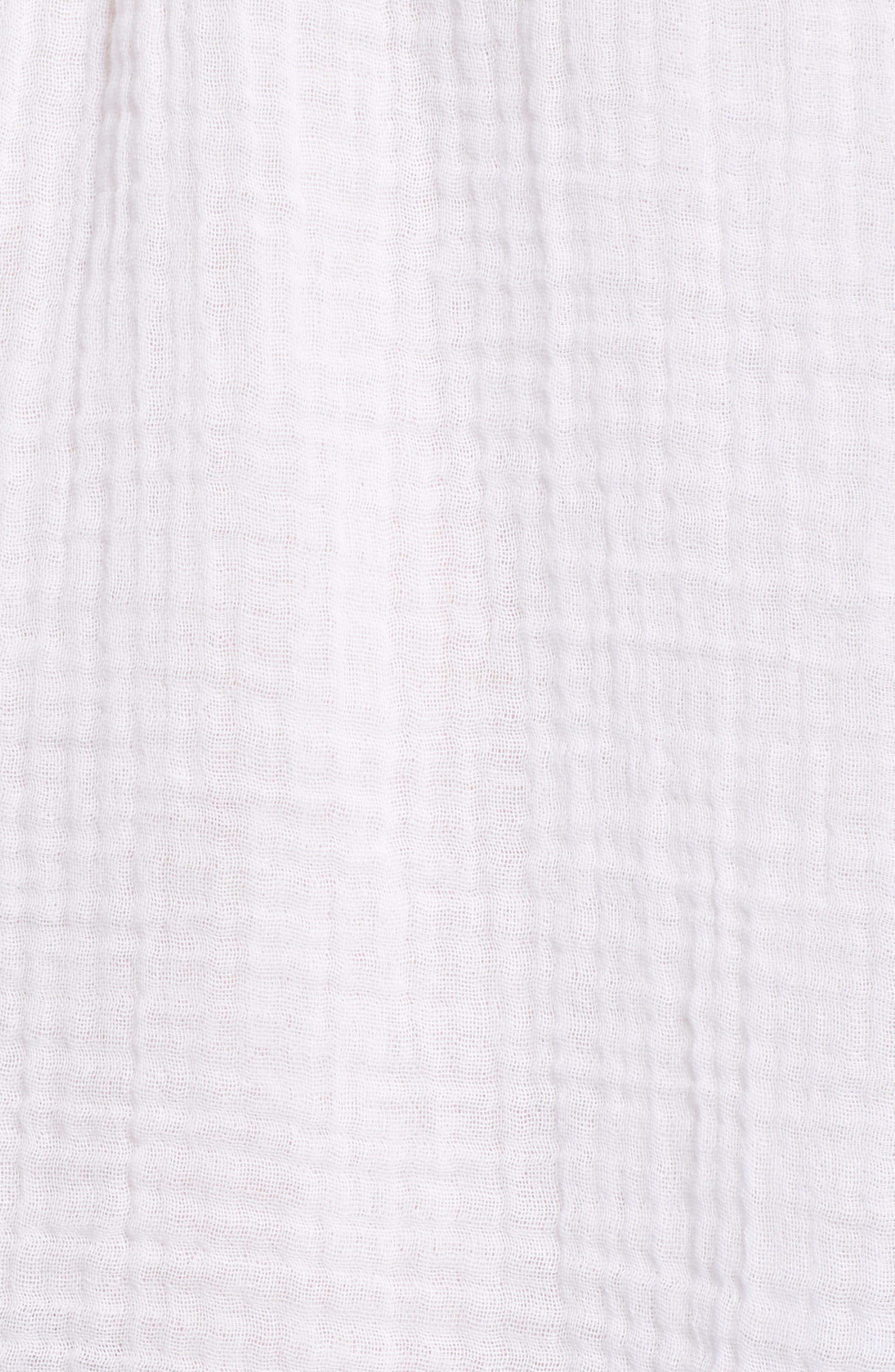 Cotton Gauze Peasant Top,                             Alternate thumbnail 6, color,                             100