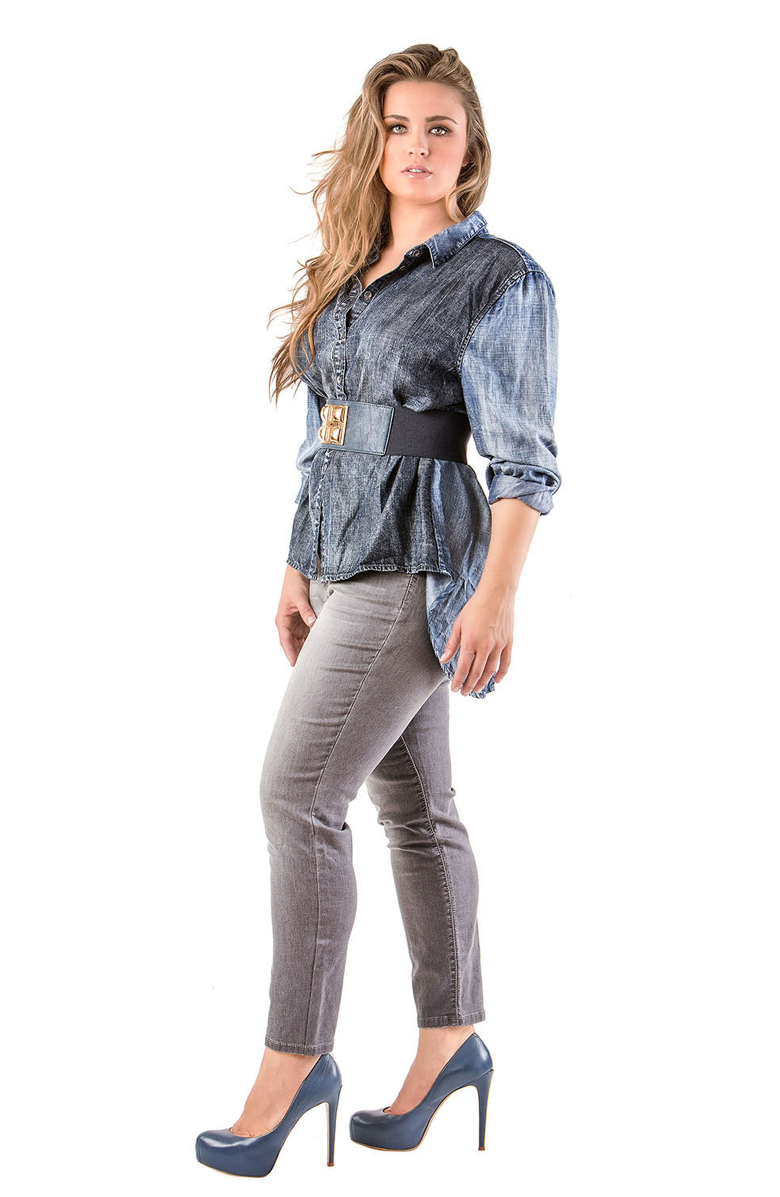 Kristine Tencel<sup>®</sup> Denim Shirt,                             Alternate thumbnail 4, color,