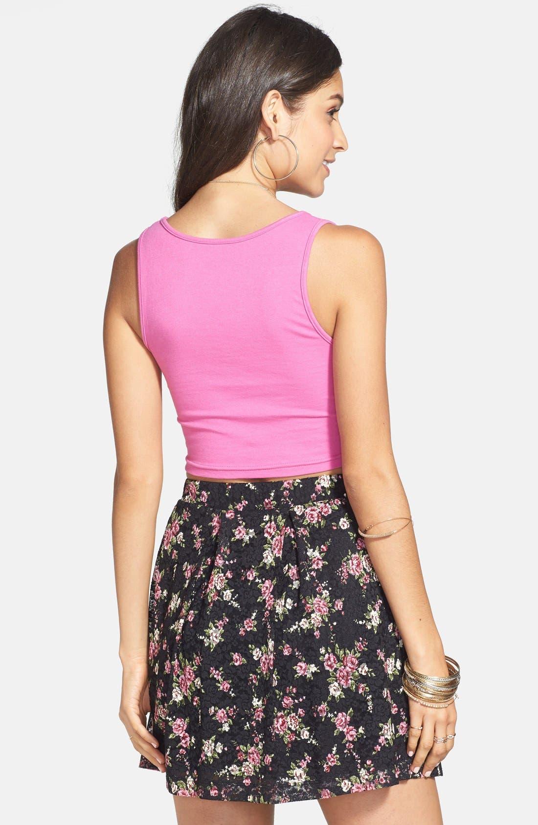 Floral Lace Skirt,                             Alternate thumbnail 2, color,                             001