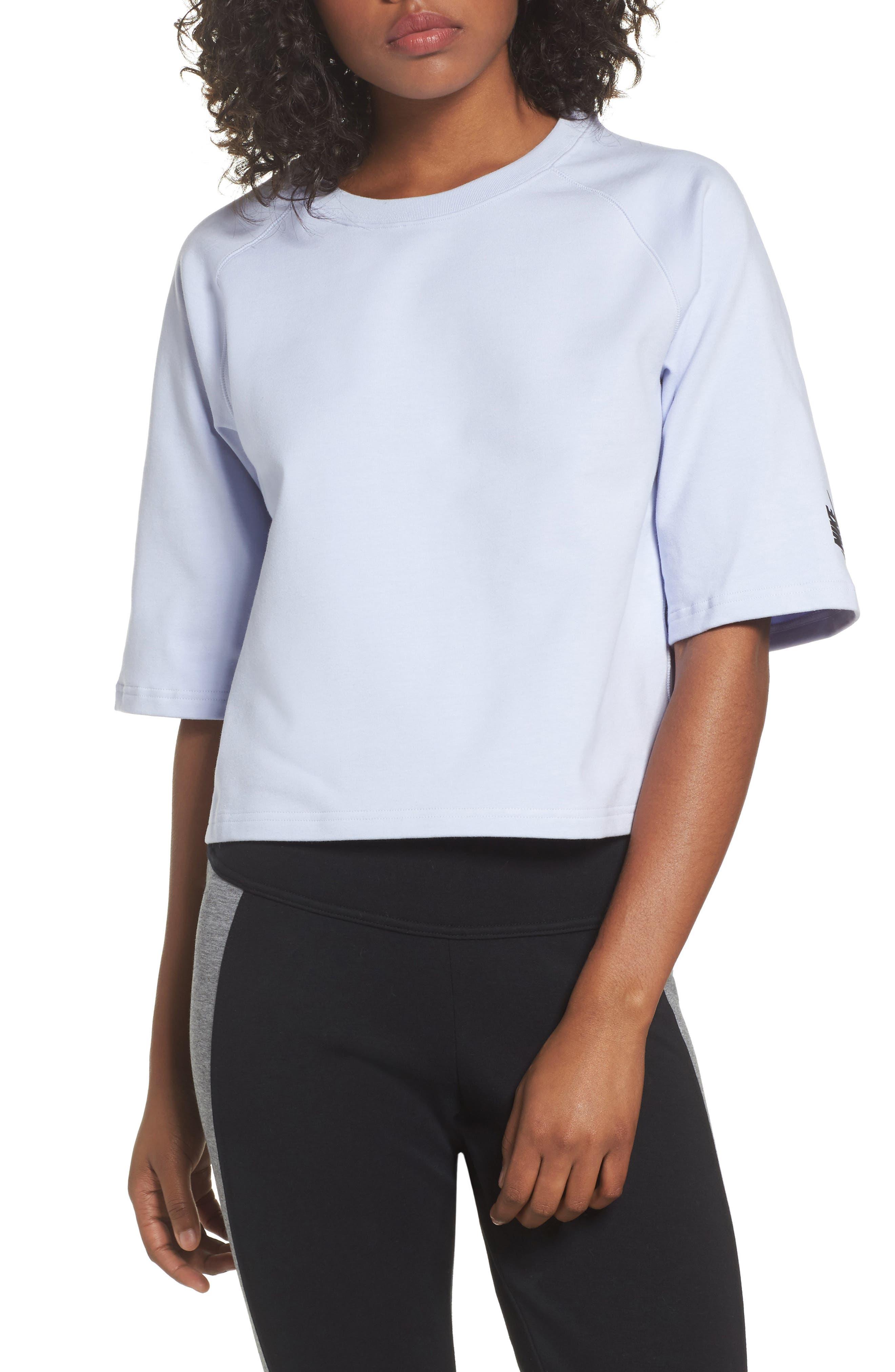 NikeLab Essential Fleece Top,                             Main thumbnail 4, color,
