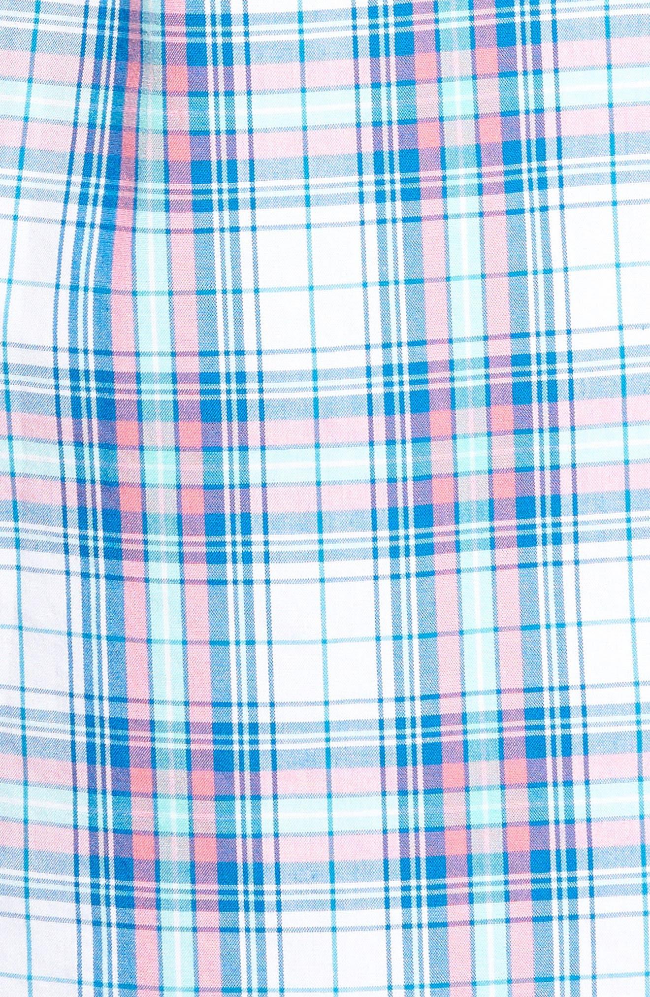 Tucker Sunset Pines Classic Fit Plaid Sport Shirt,                             Alternate thumbnail 5, color,                             650