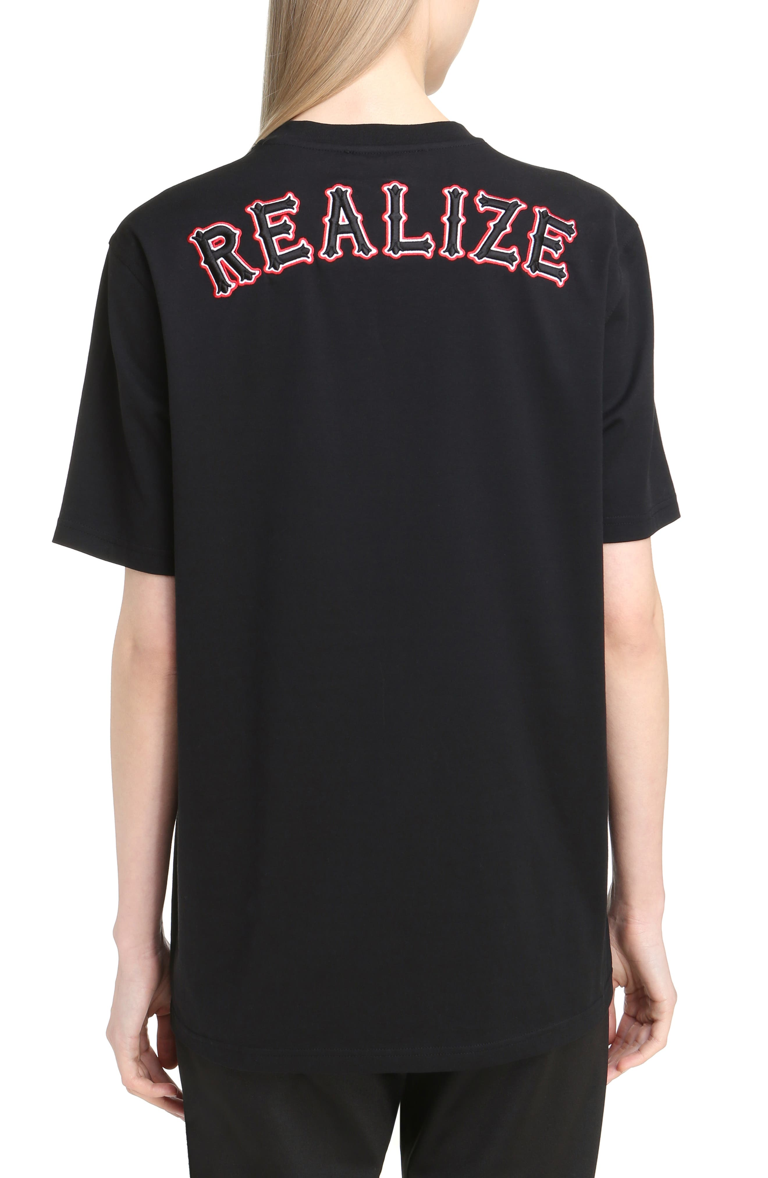 Realize Embroidered Tee,                             Alternate thumbnail 2, color,                             001