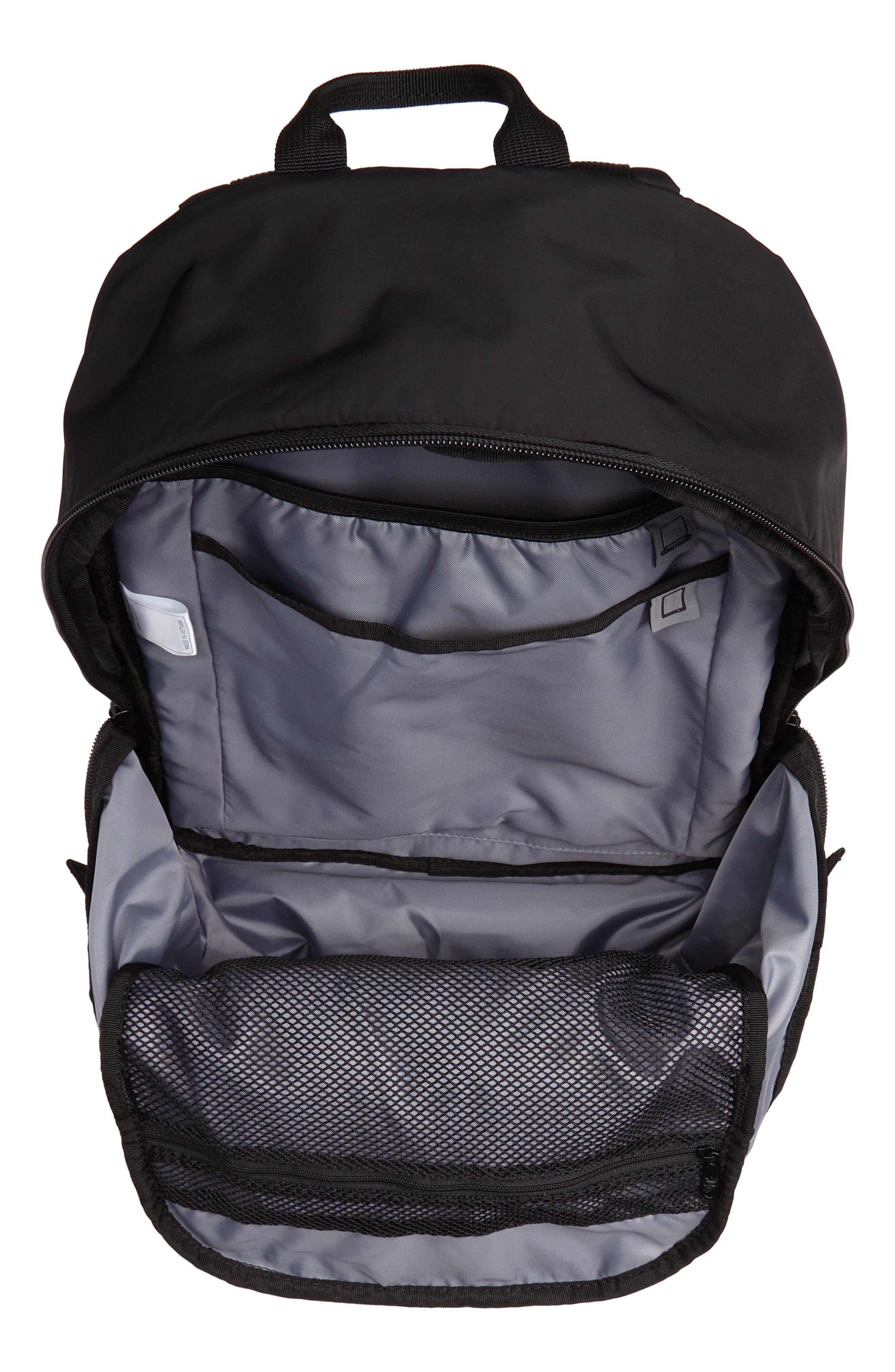 EQT Backpack,                             Alternate thumbnail 4, color,                             BLACK/ WHITE/ SUB GREEN