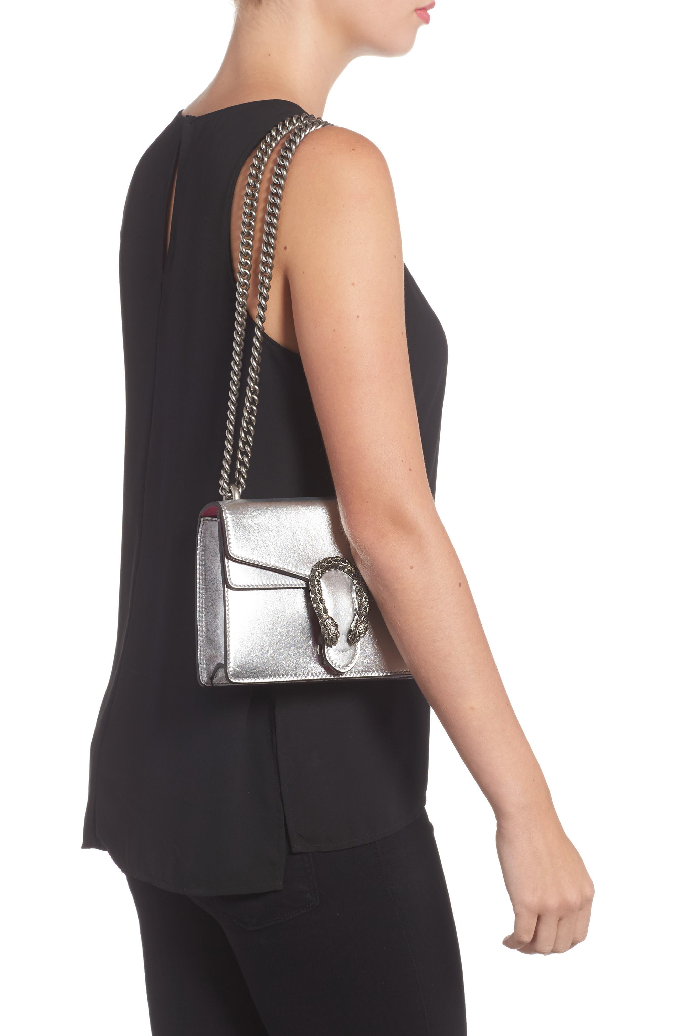 Mini Dionysus Metallic Leather Shoulder Bag,                             Alternate thumbnail 2, color,                             045