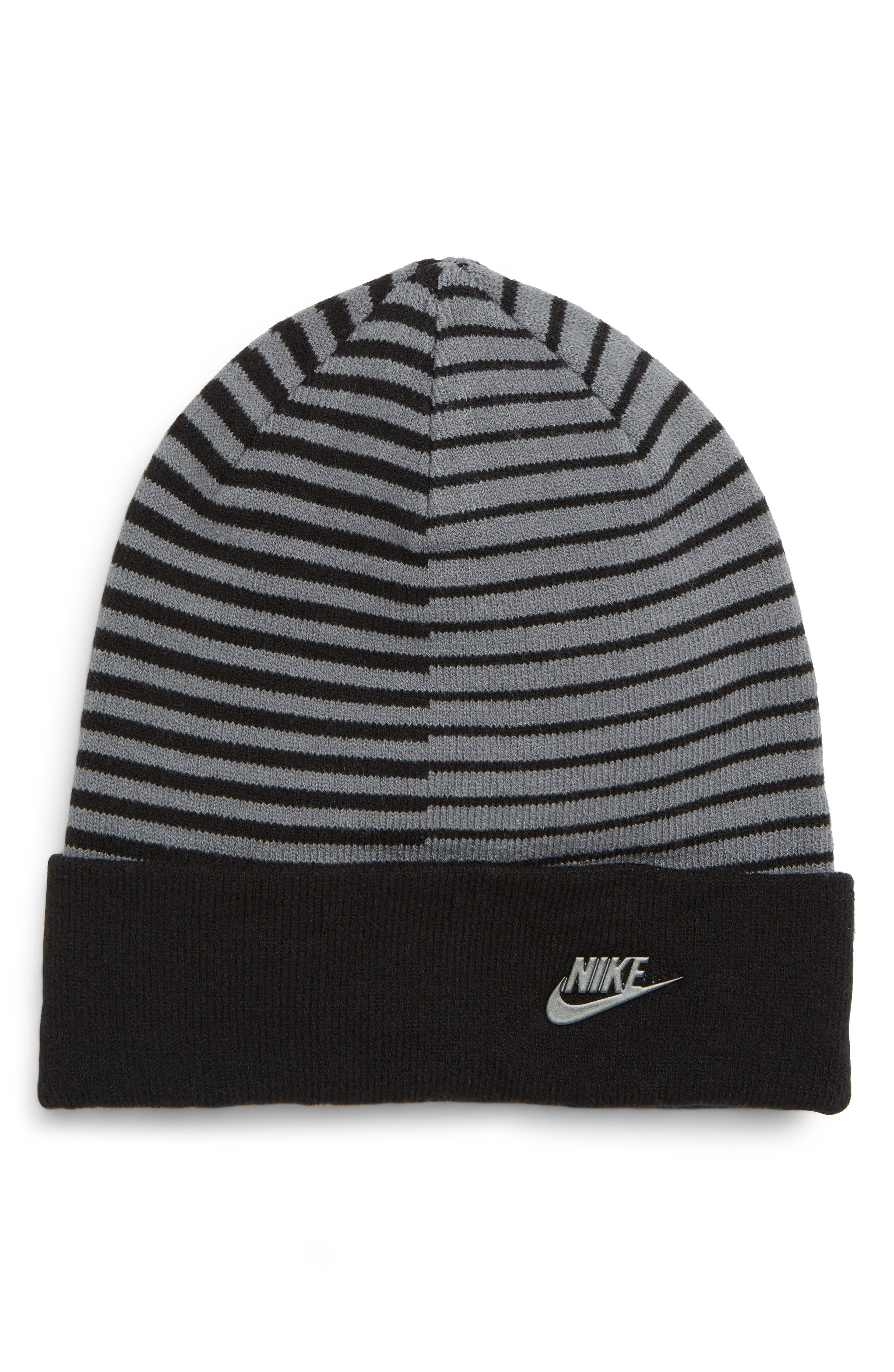 NSW Stripe Beanie,                         Main,                         color, BLACK