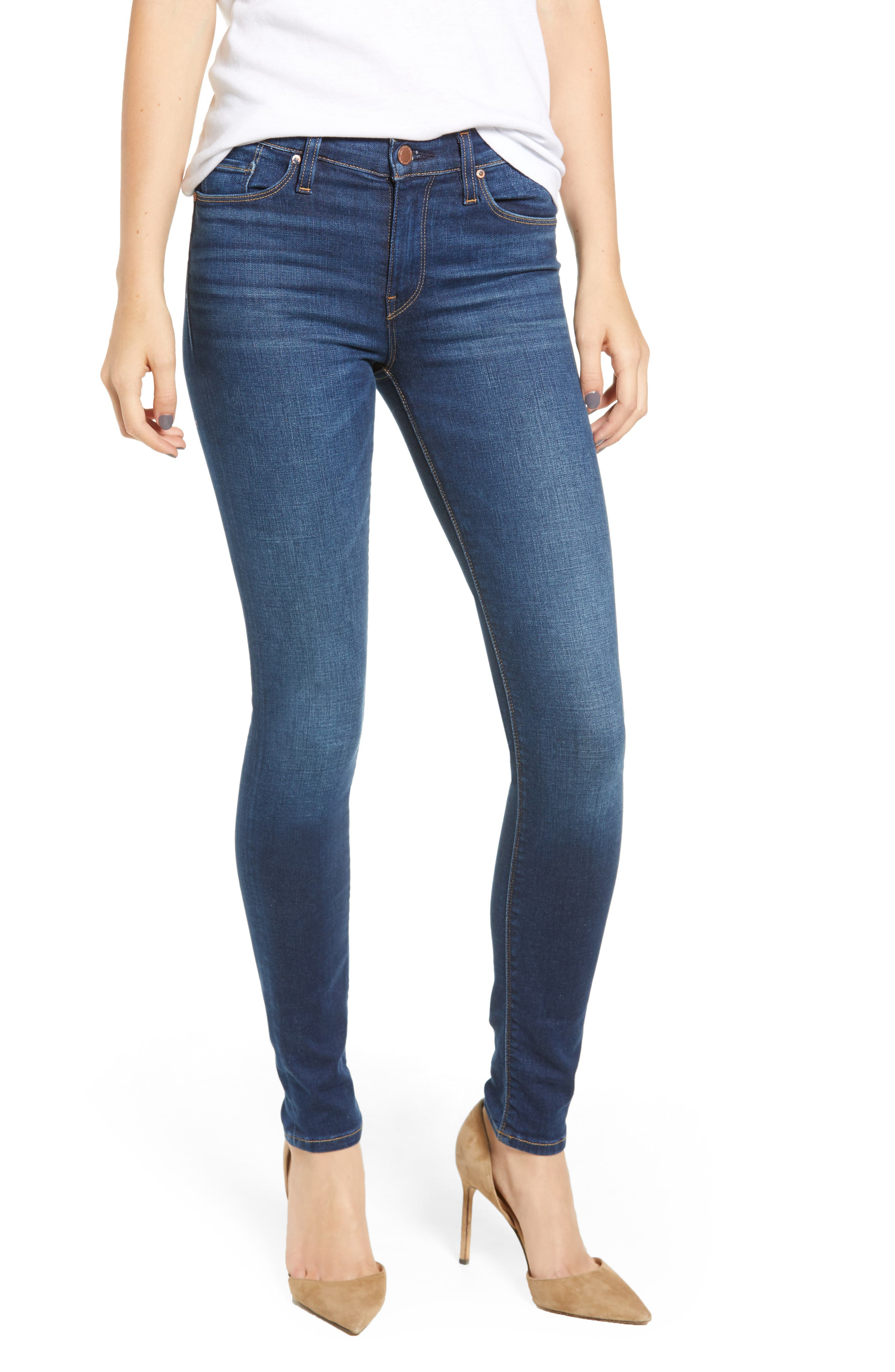 Nico Super Skinny Jeans, Main, color, GOWER