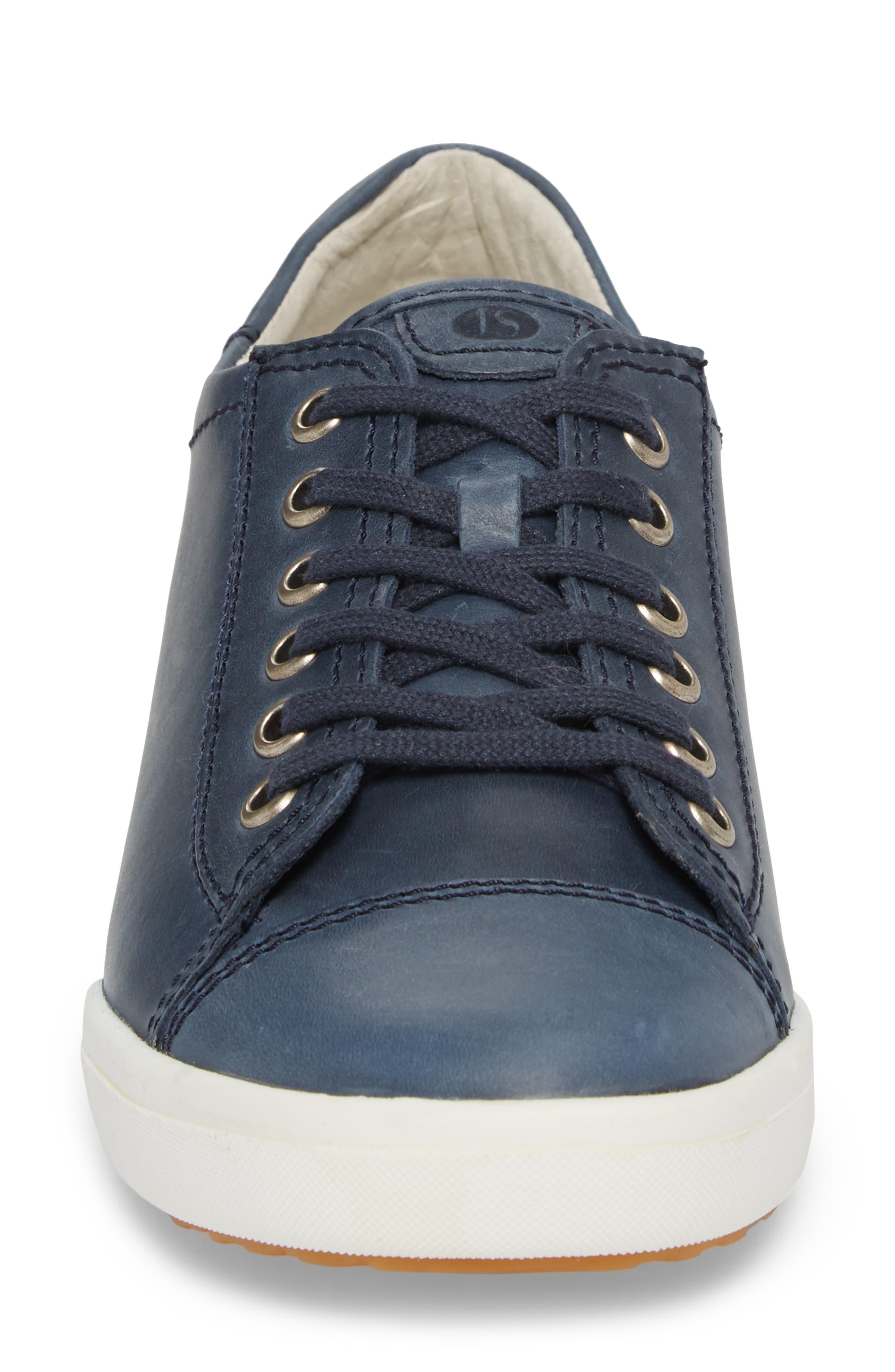 Sina 11 Sneaker,                             Alternate thumbnail 4, color,                             DENIM LEATHER