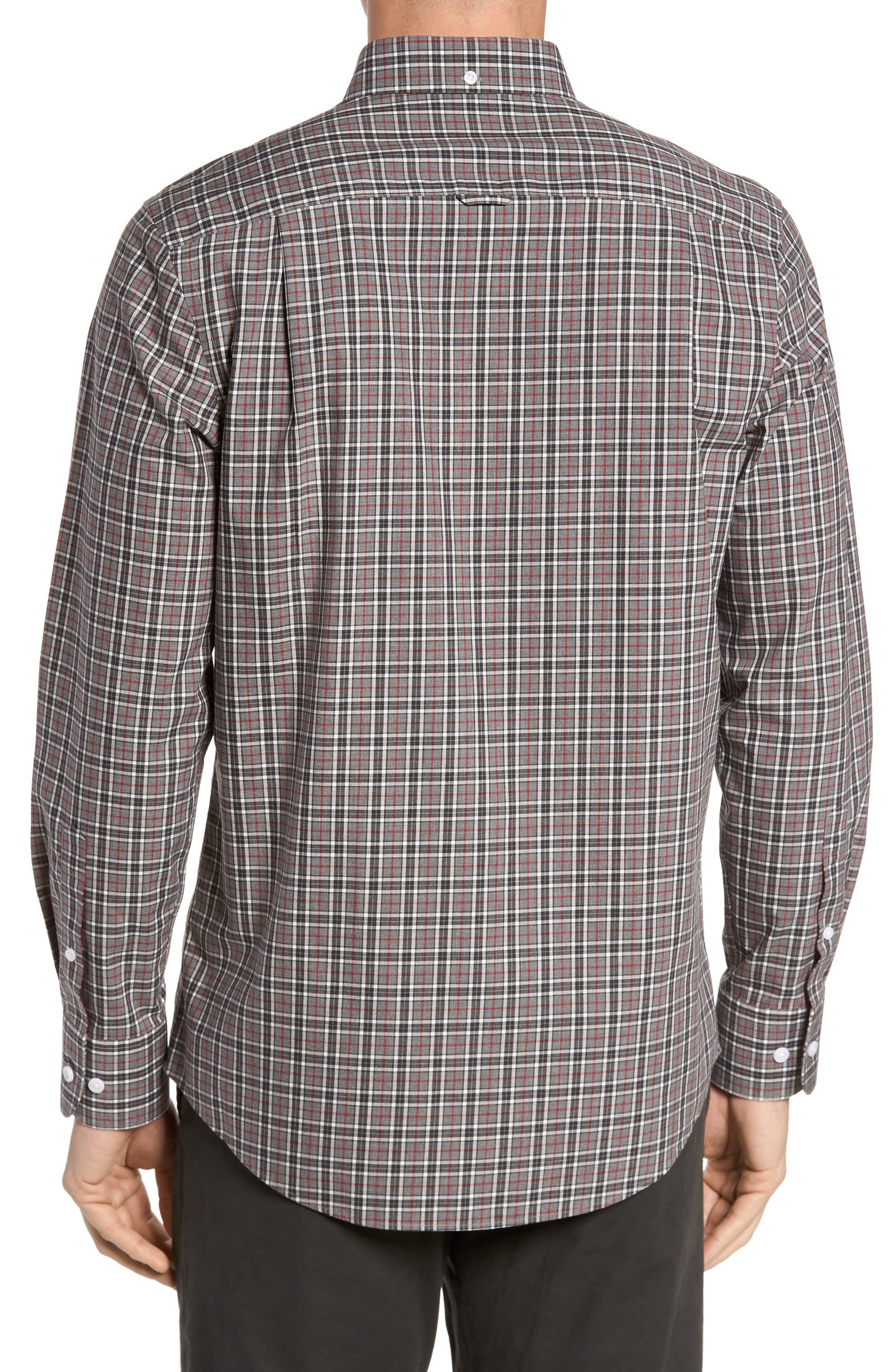 Smartcare<sup>™</sup> Regular Fit Plaid Sport Shirt,                             Alternate thumbnail 2, color,                             030