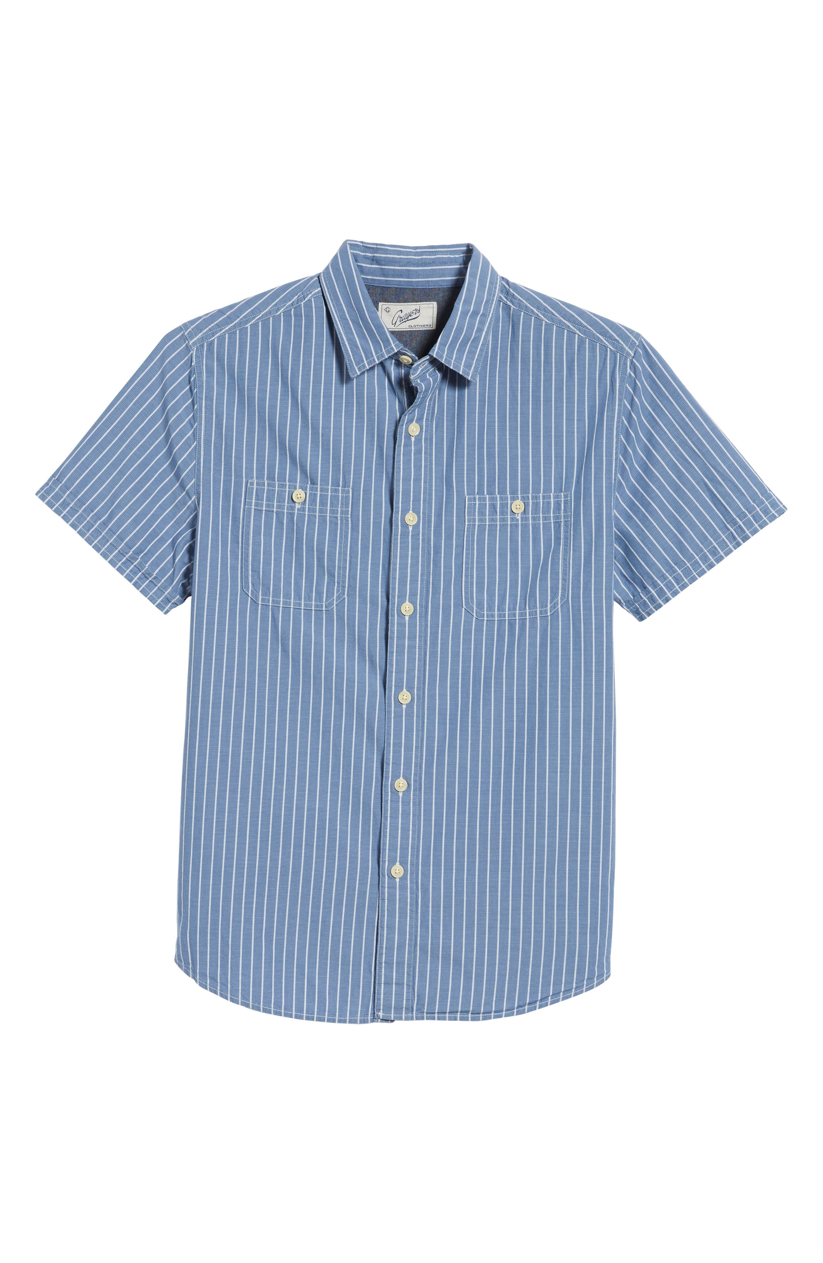Larkin Stripe Sport Shirt,                             Alternate thumbnail 6, color,