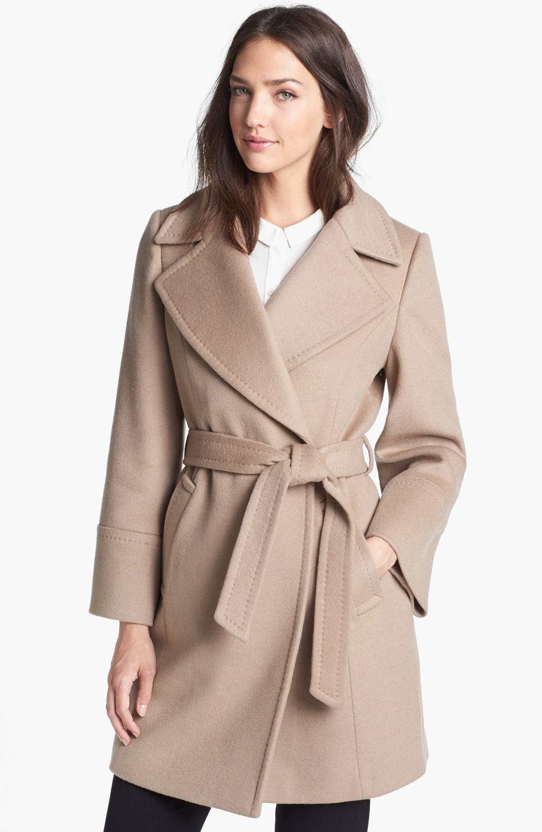 'Chelsea' Wool Blend Wrap Coat,                             Main thumbnail 1, color,                             263