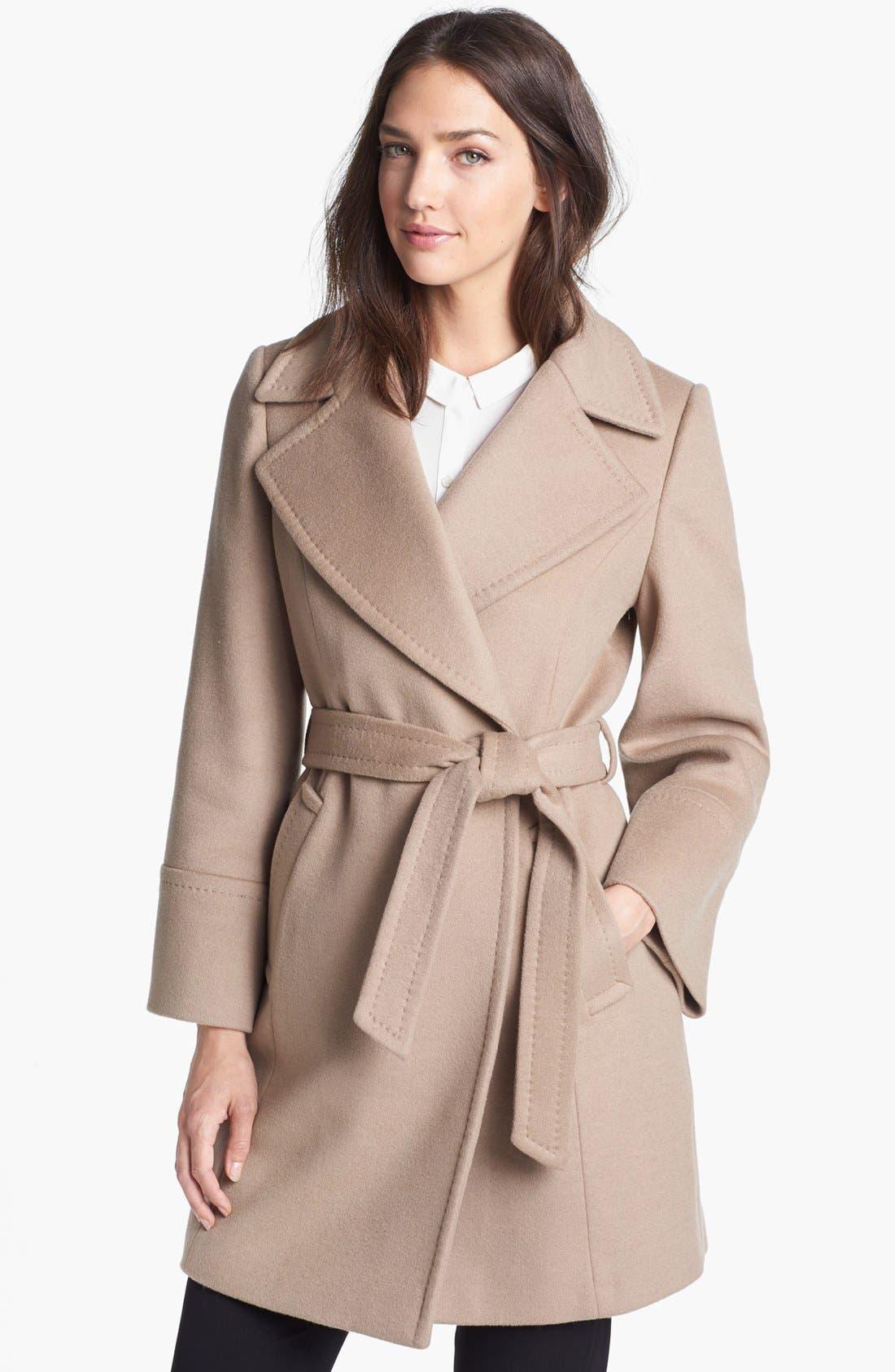 'Chelsea' Wool Blend Wrap Coat, Main, color, 263