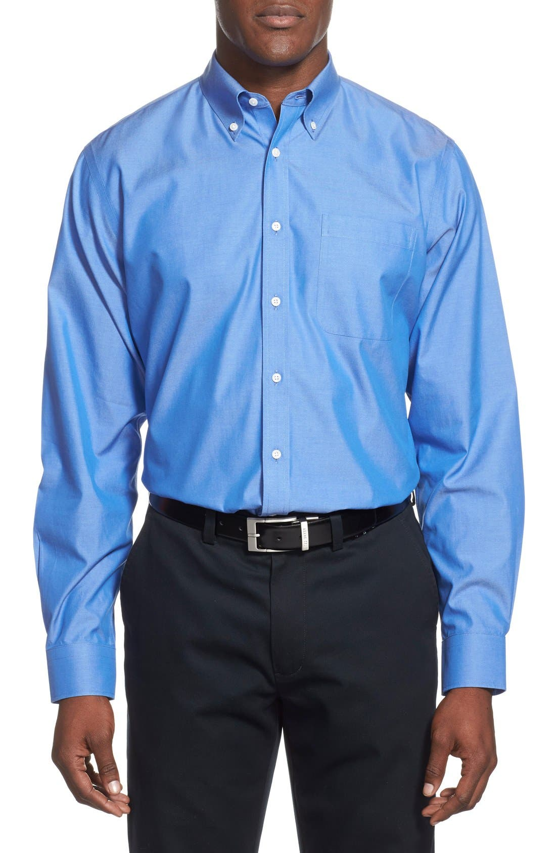 Smartcare<sup>™</sup> Traditional Fit Pinpoint Dress Shirt,                             Alternate thumbnail 55, color,
