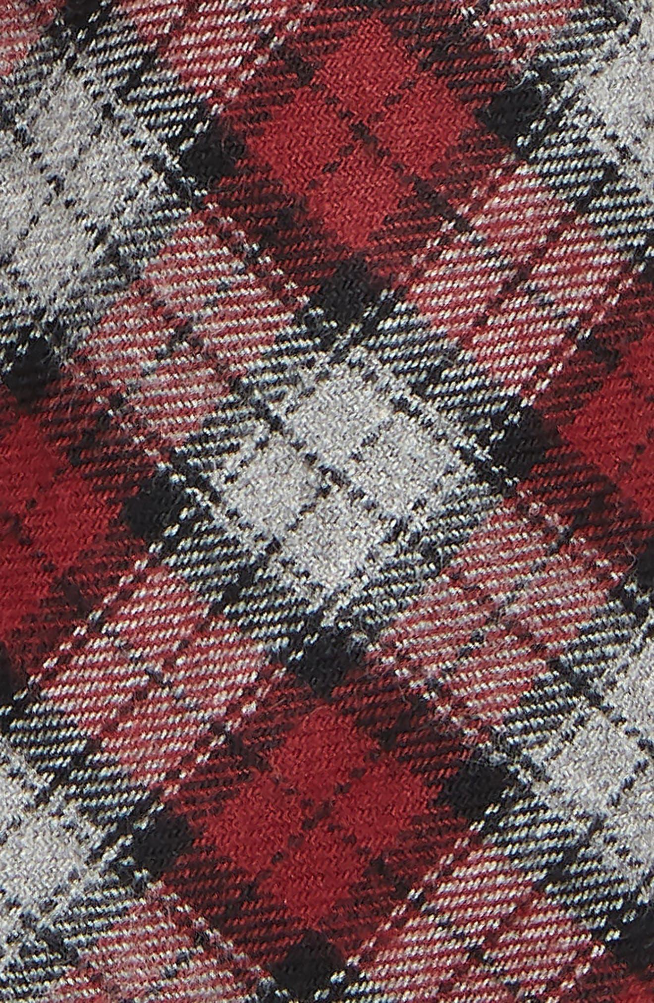 Plaid Cotton Tie,                             Alternate thumbnail 2, color,                             RED