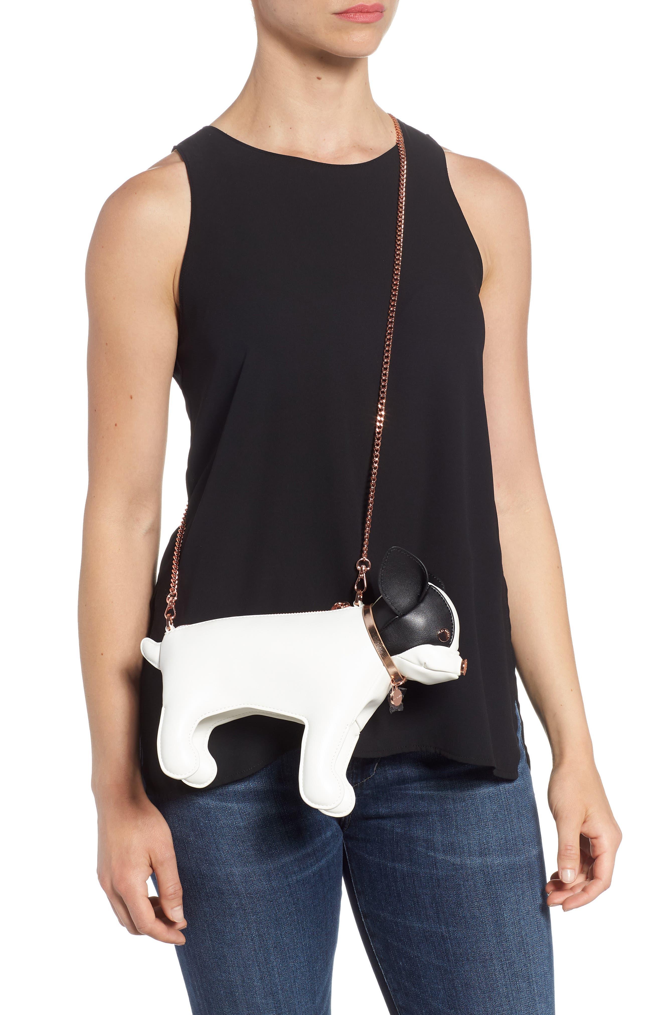 Boston Terrier Crossbody Bag,                             Alternate thumbnail 3, color,