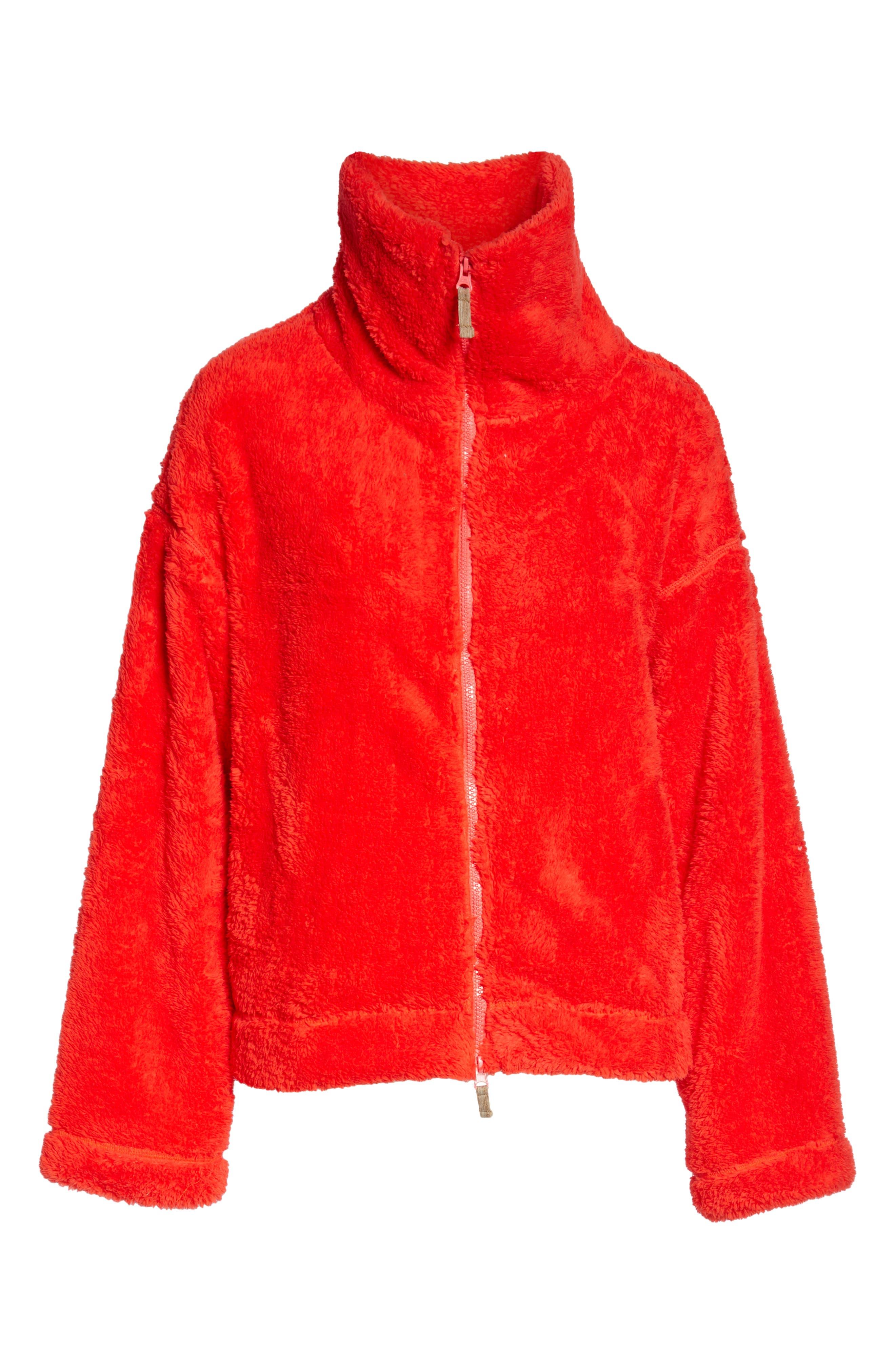 Dazed Fleece Jacket,                             Alternate thumbnail 7, color,                             RED
