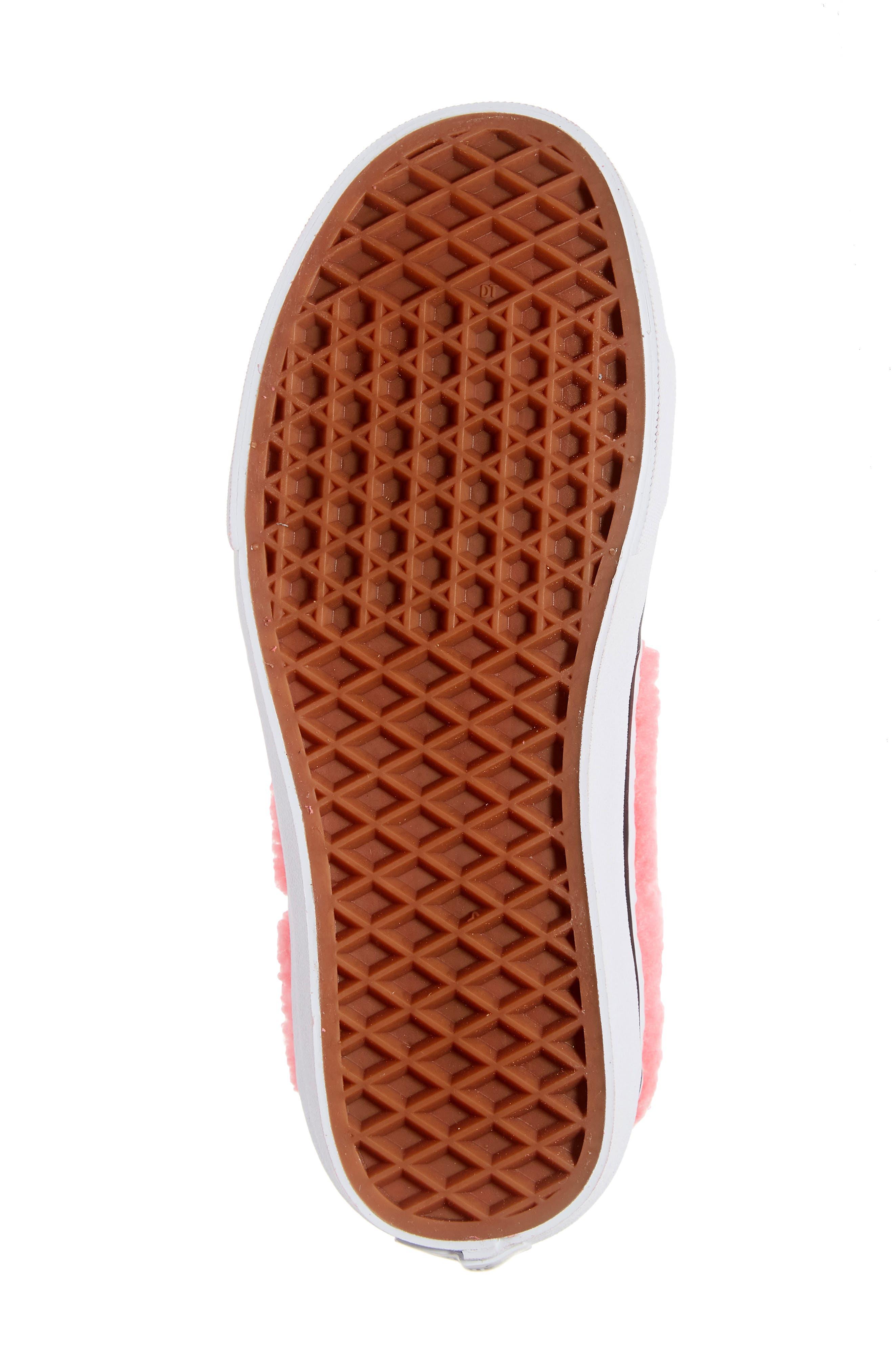 Sk8-Hi Faux Shearling High Top Sneaker,                             Alternate thumbnail 6, color,                             PINK LEMONADE