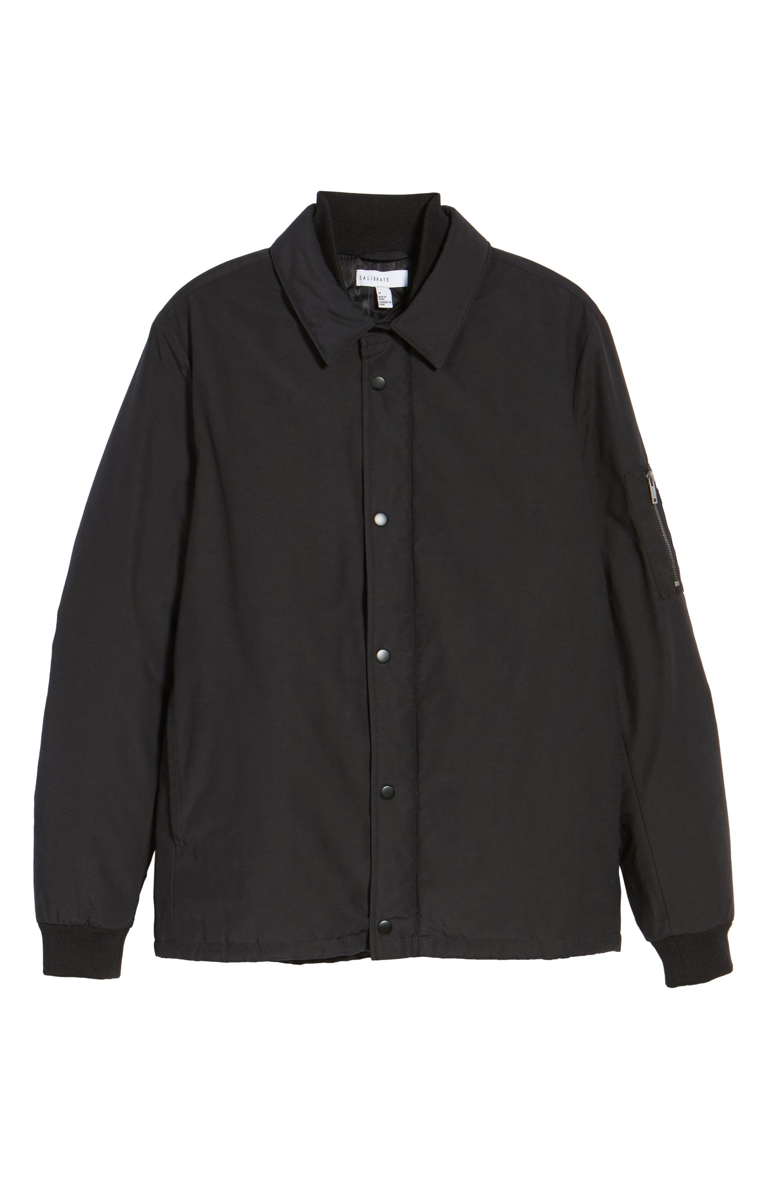 Collared Bomber Jacket,                             Alternate thumbnail 5, color,                             001