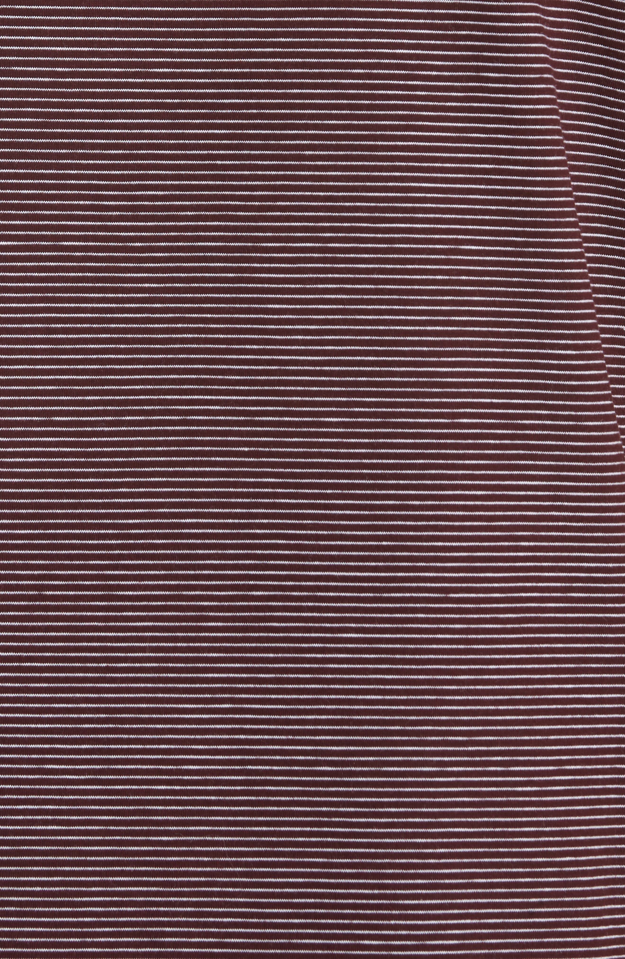 Stripe Pocket T-Shirt,                             Alternate thumbnail 5, color,                             BURGUNDY